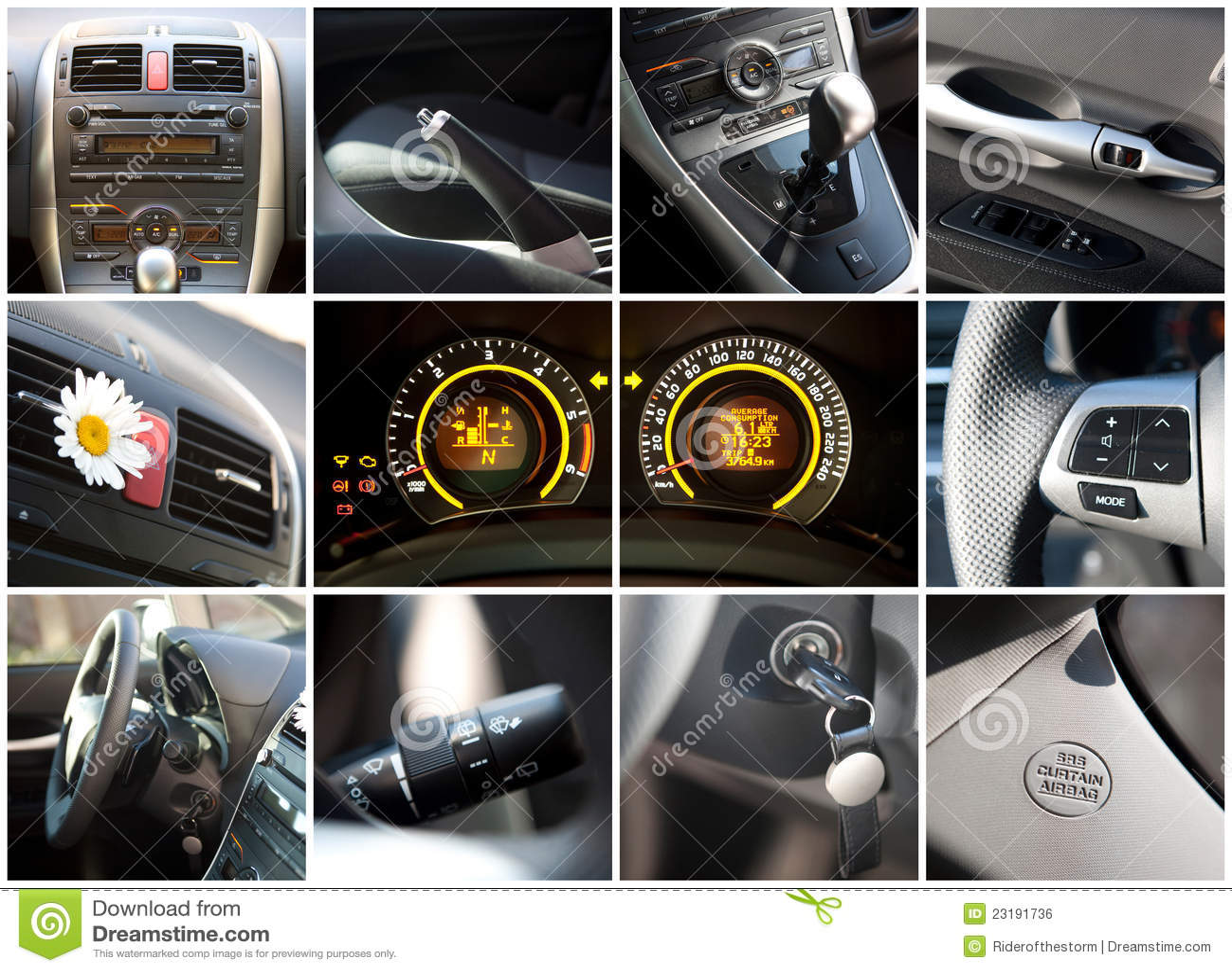 car interior stock photo image of control equipment 23191736. Black Bedroom Furniture Sets. Home Design Ideas