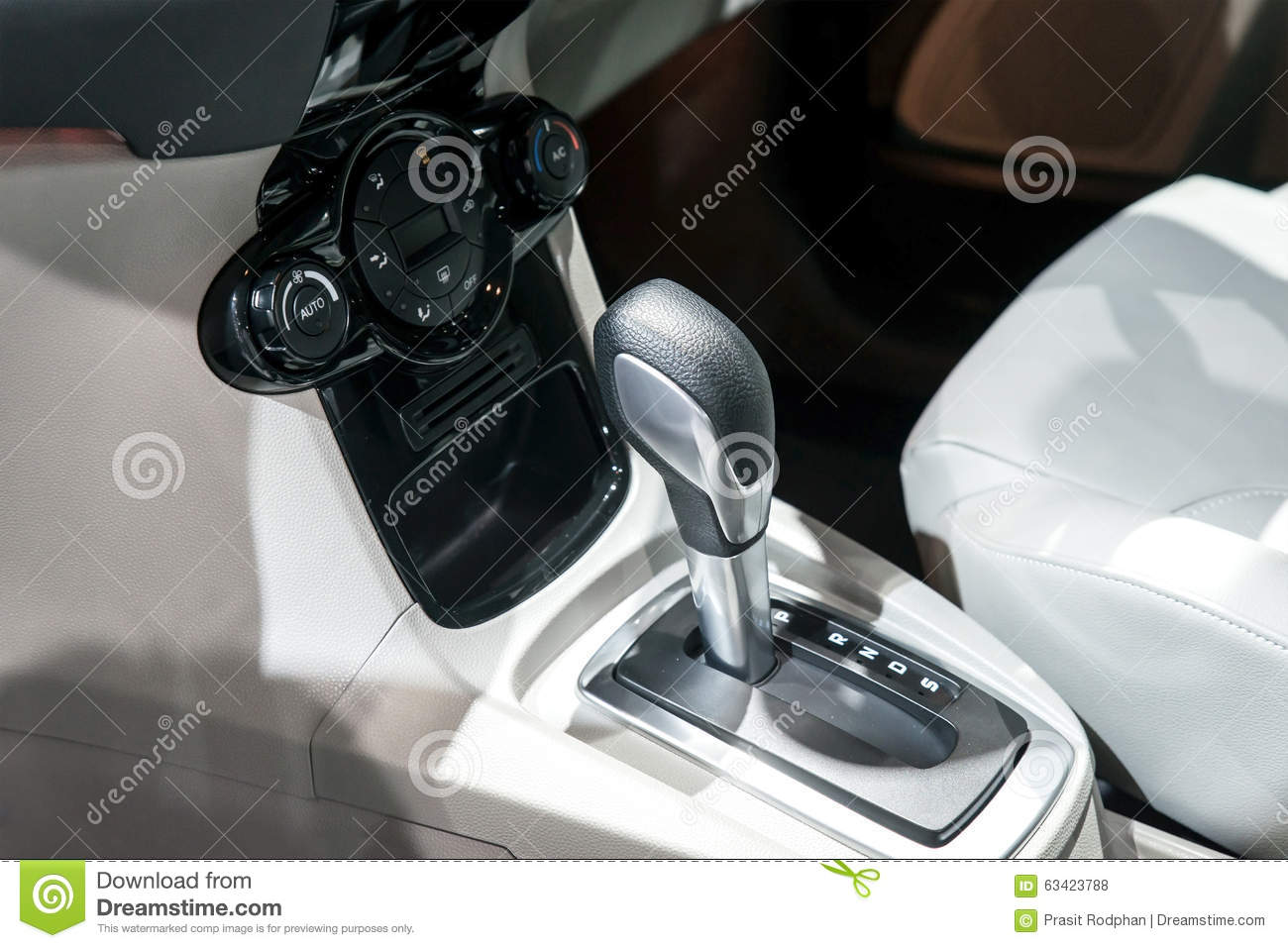 car interior automatic transmission gear shift and air conditi stock photo image 63423788. Black Bedroom Furniture Sets. Home Design Ideas