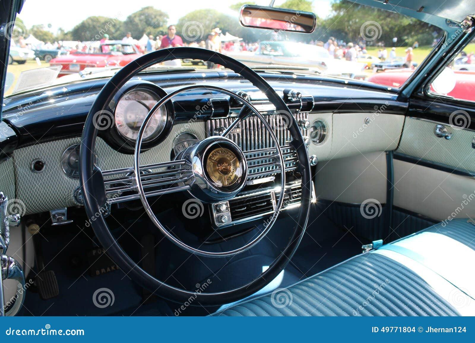 Car Interior Classic Americana Editorial Stock Image Image Of
