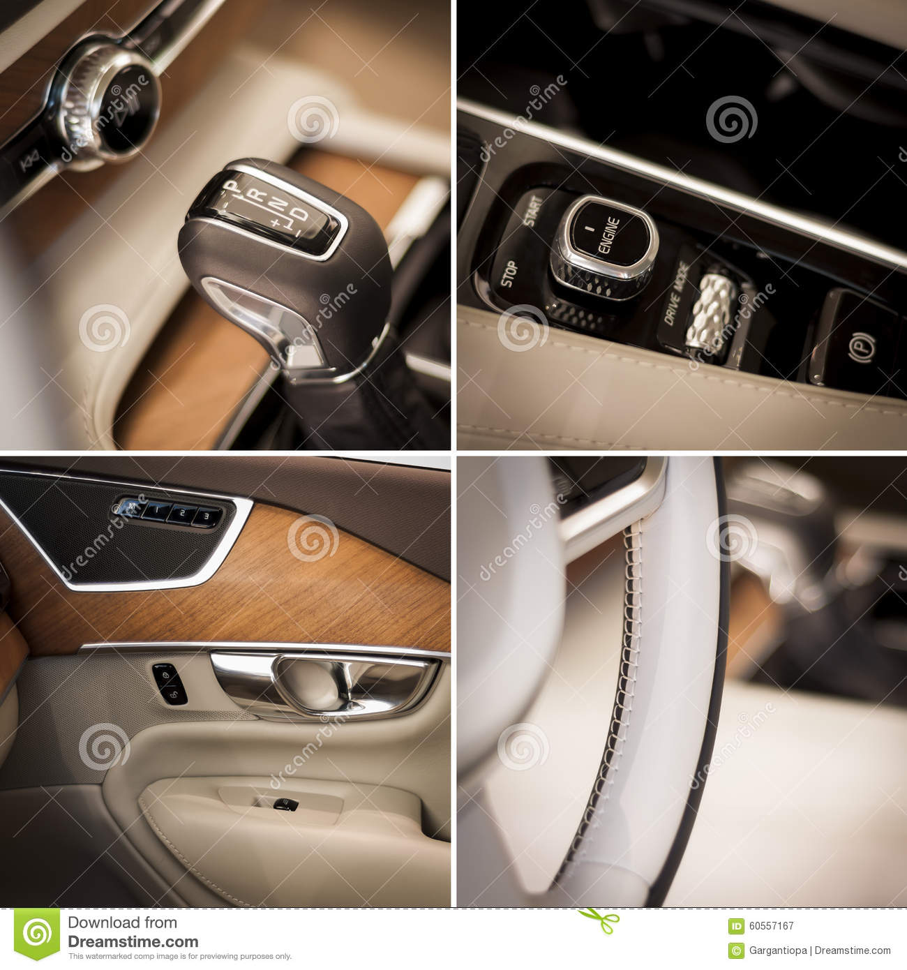 Car Interior Collage Royalty Free Stock Photo 22852035