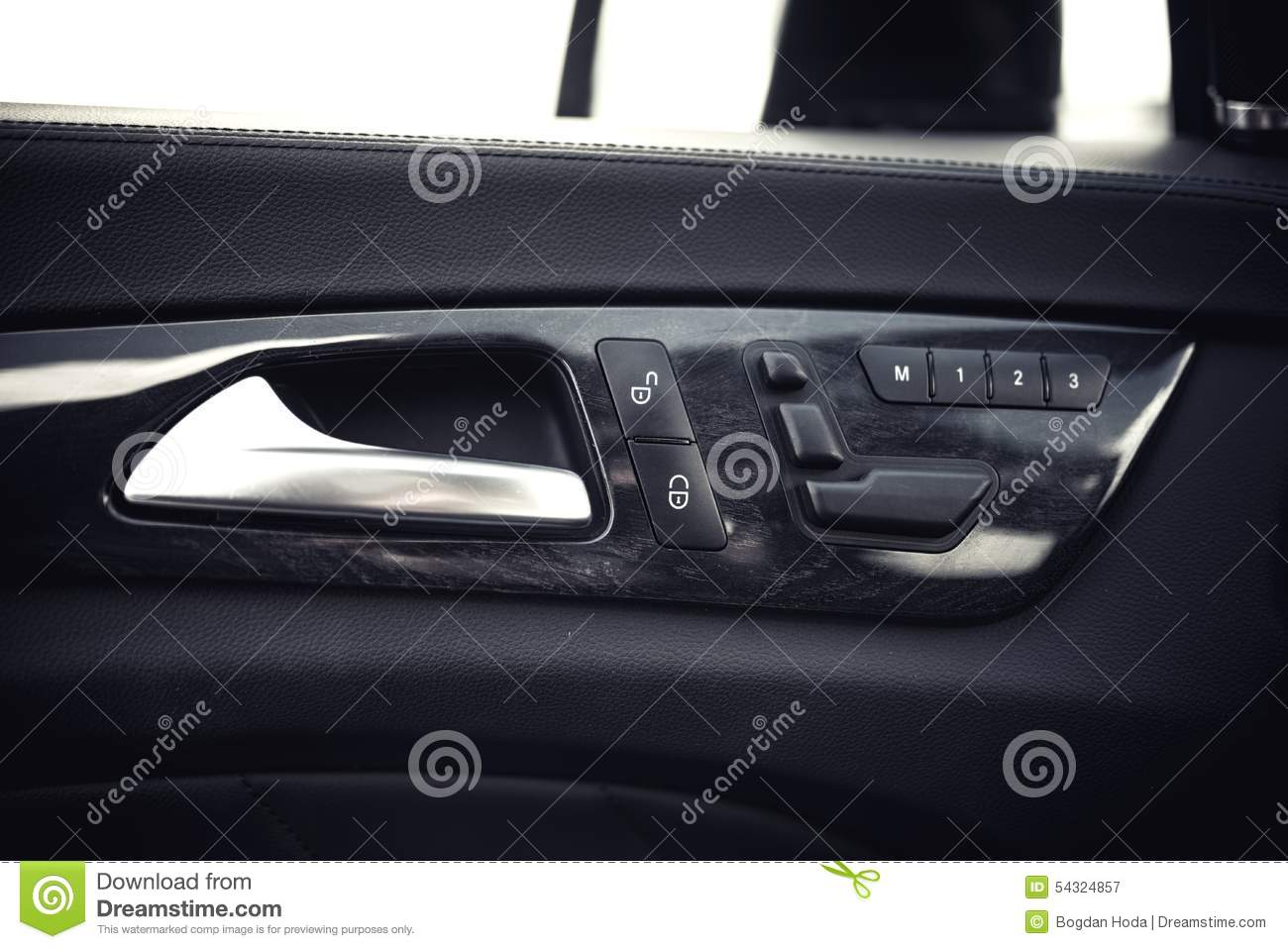 car interior details door handle and electronic memory for the chairs. Black Bedroom Furniture Sets. Home Design Ideas