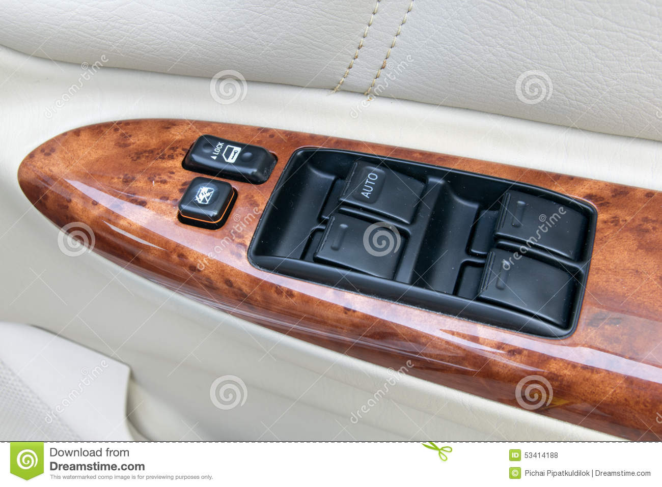 car interior details of door handle with windows controls and ad stock photo image of detail. Black Bedroom Furniture Sets. Home Design Ideas