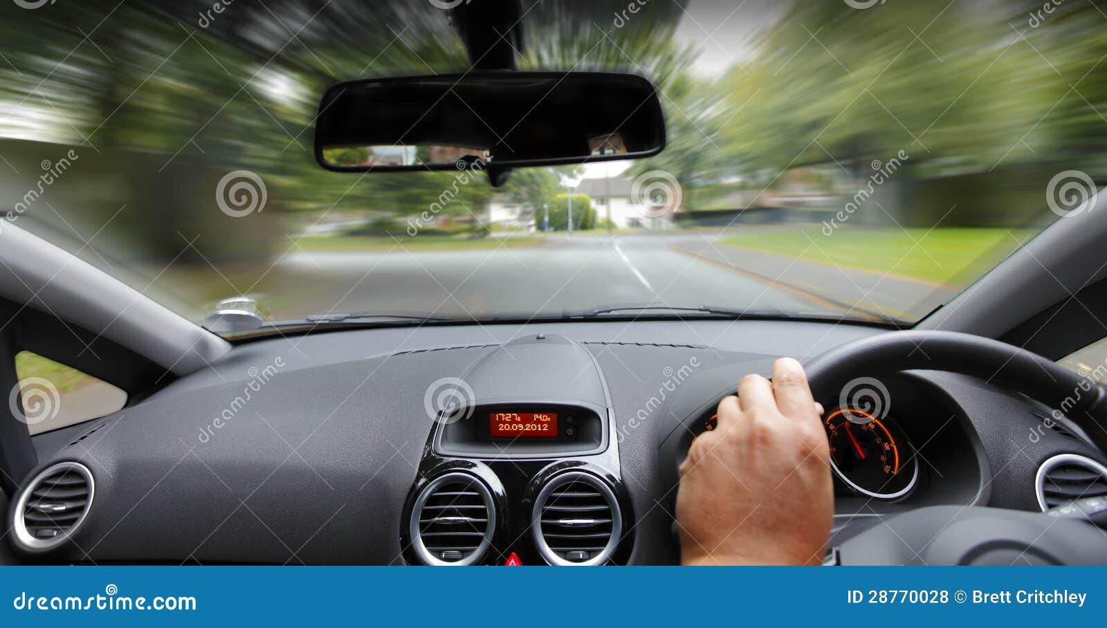 Car interior driving