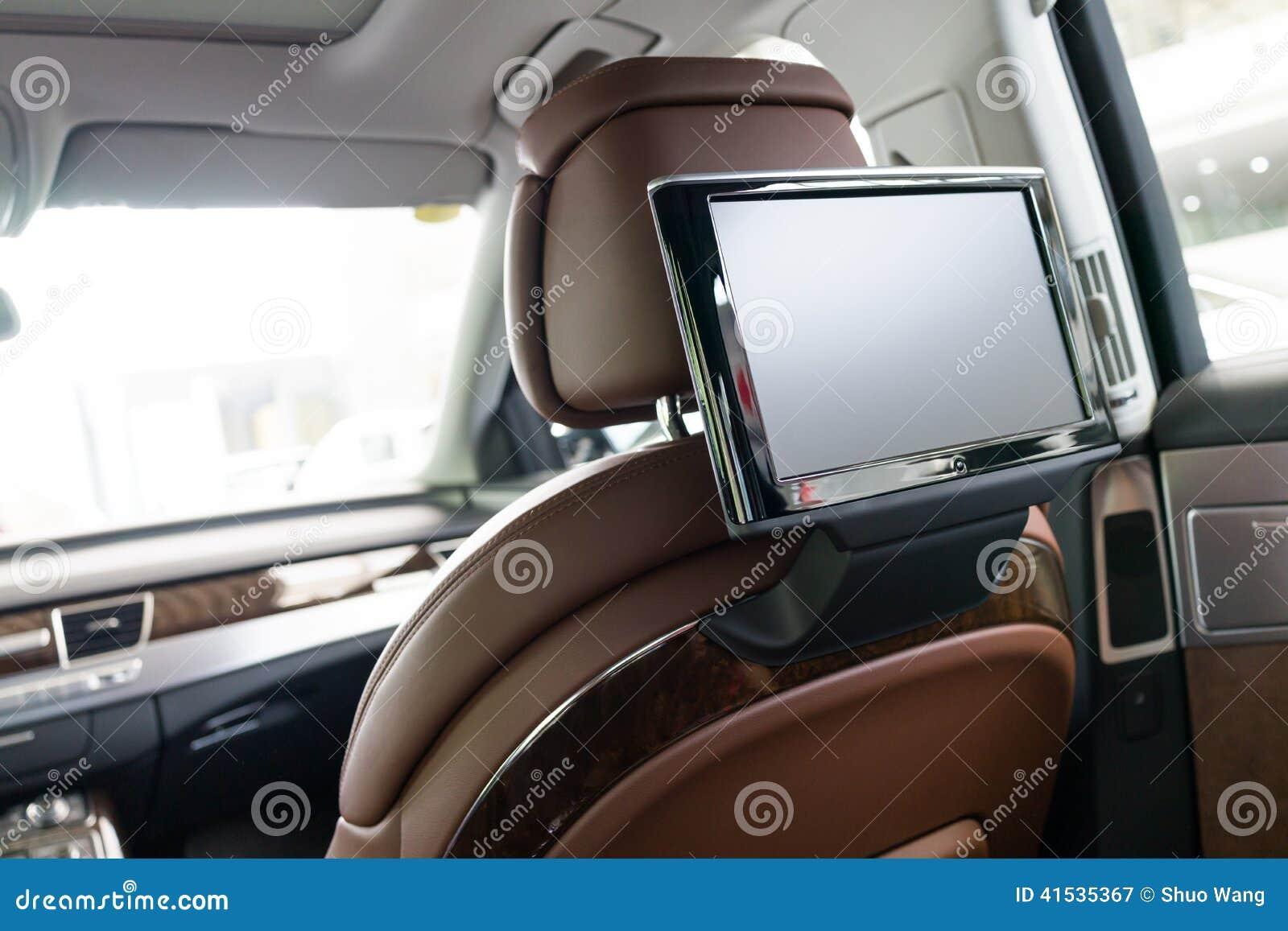 Car interior entertainment - Car Interior Stock Photo