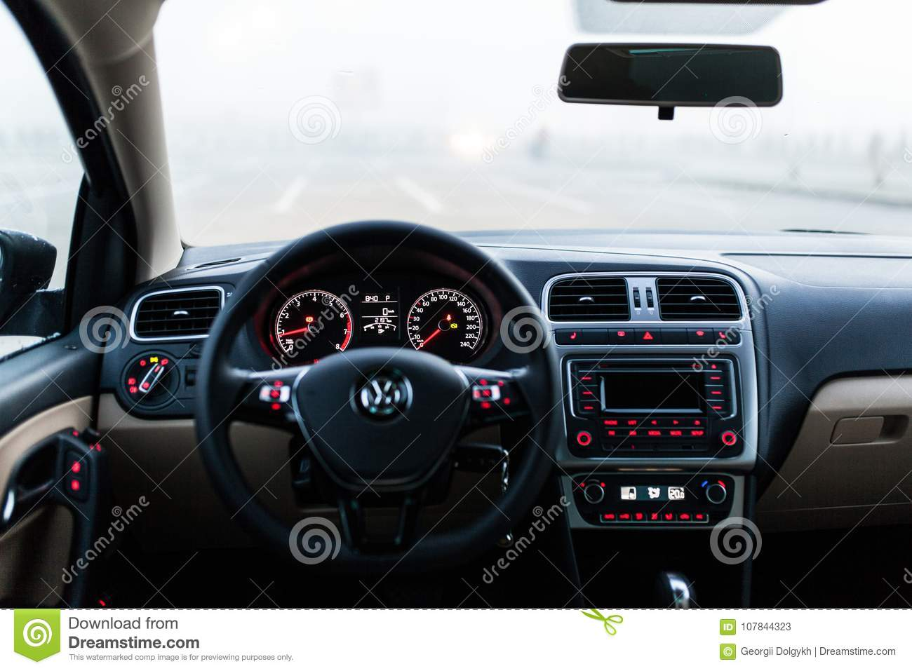 Car Interior Front Dashboard Editorial Stock Photo Image Of Mirror