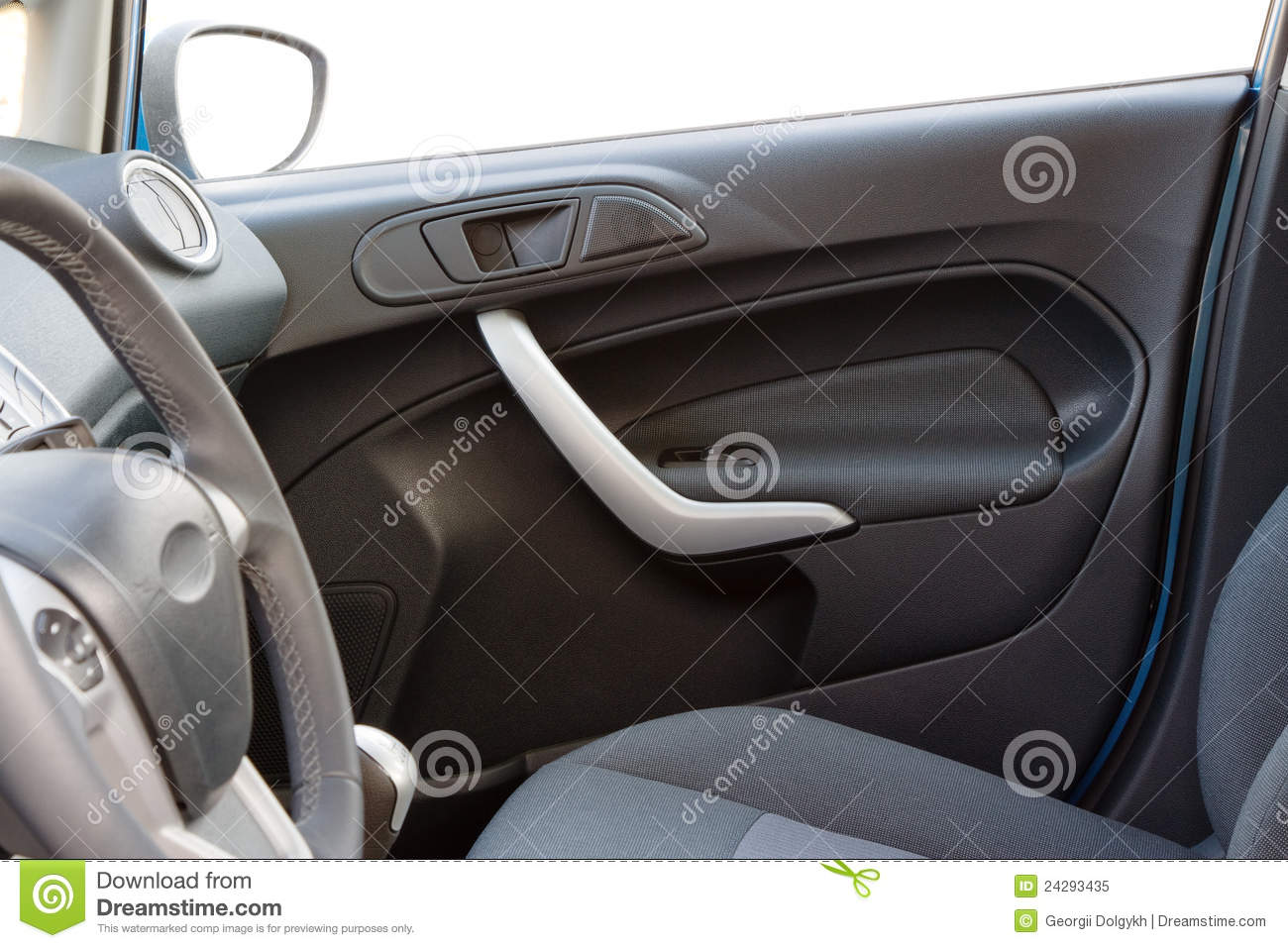 Car interior front door royalty free stock photo image 24293435