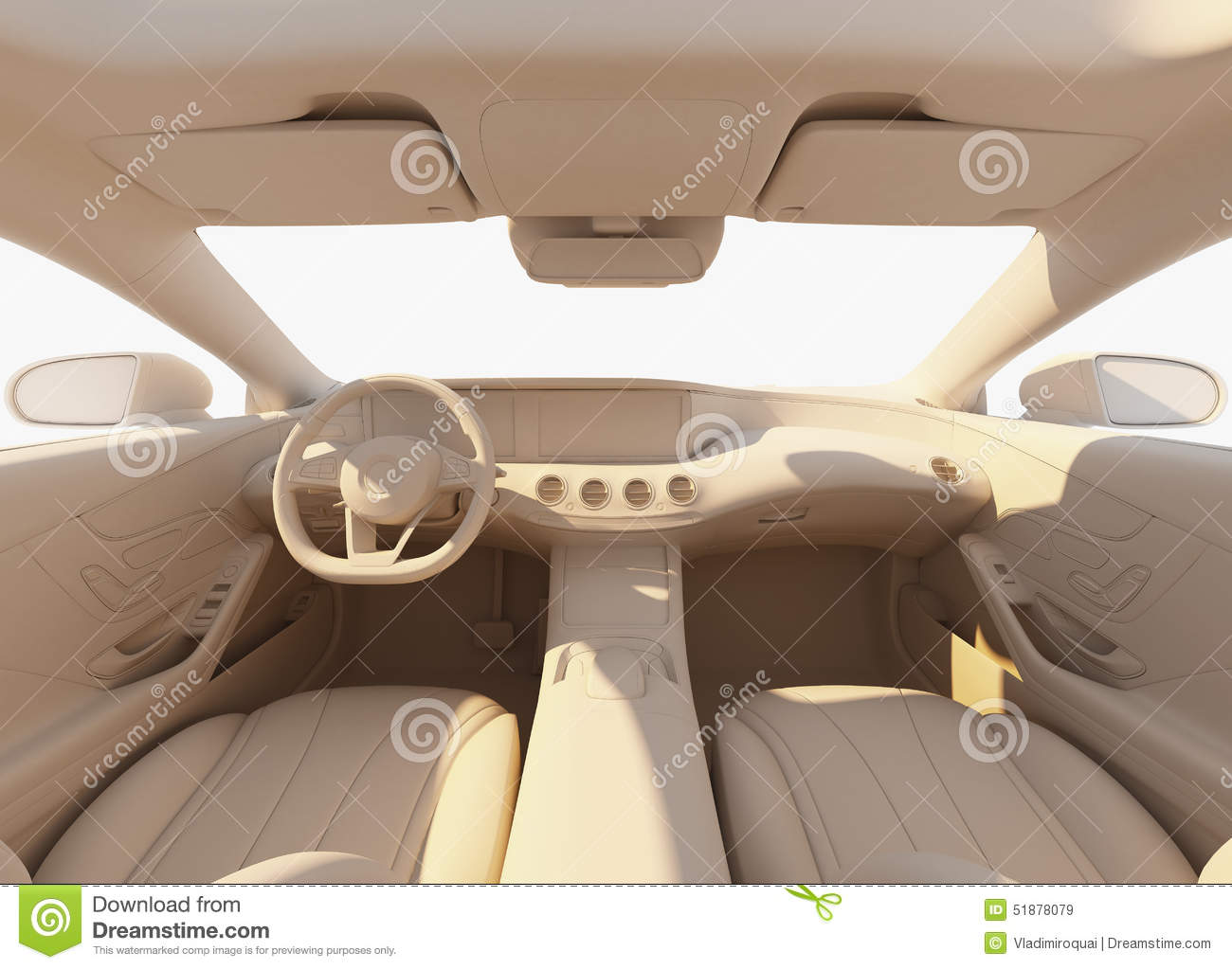car interior illuminated by the sunlihgt stock illustration illustration of comfortable clay. Black Bedroom Furniture Sets. Home Design Ideas