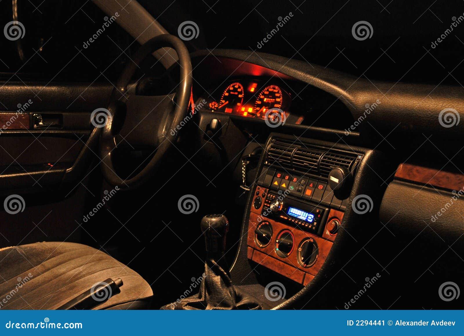 car interior at the night stock image image 2294441. Black Bedroom Furniture Sets. Home Design Ideas