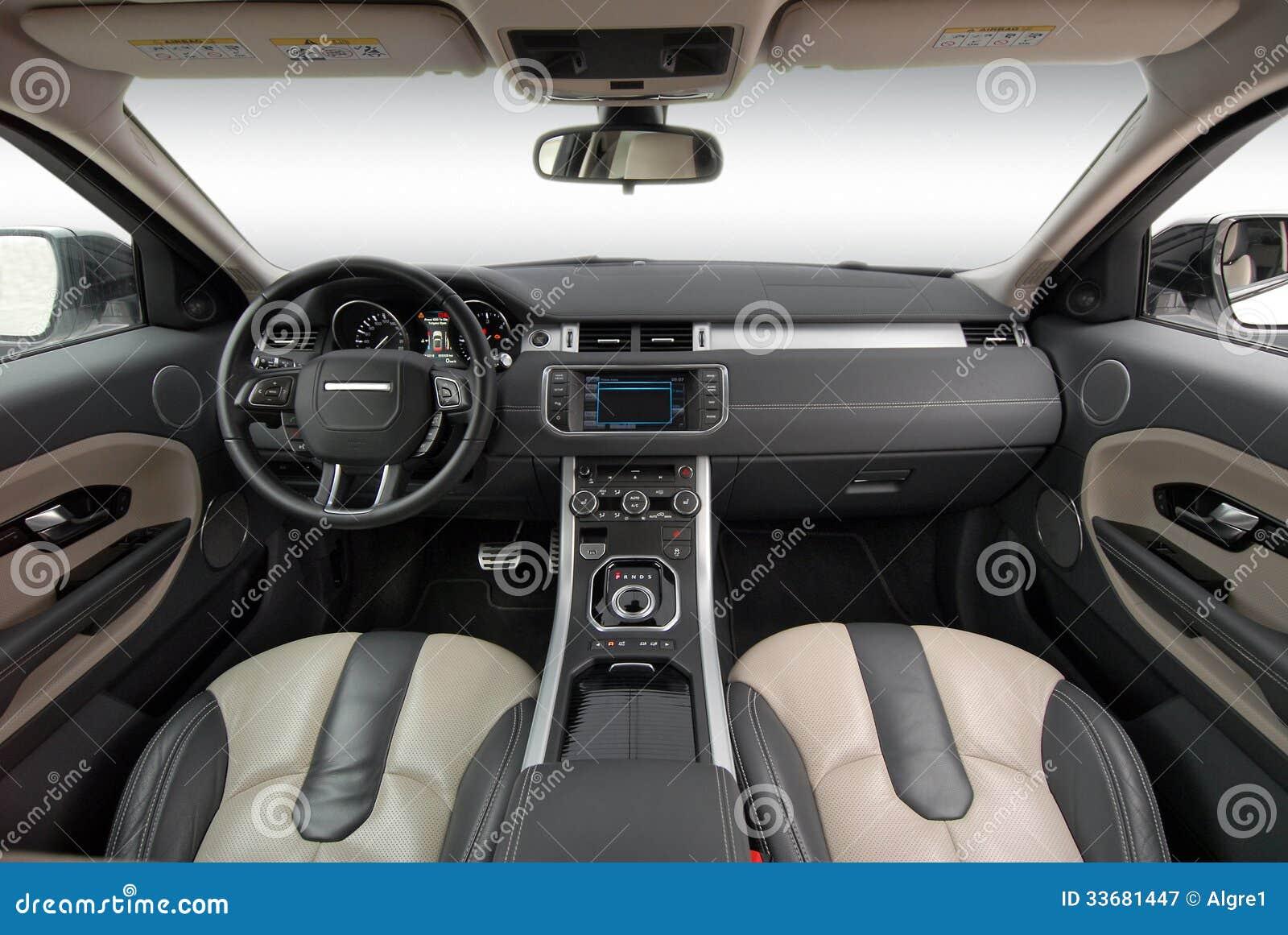 car interior stock image image of expensive automobile 33681447. Black Bedroom Furniture Sets. Home Design Ideas