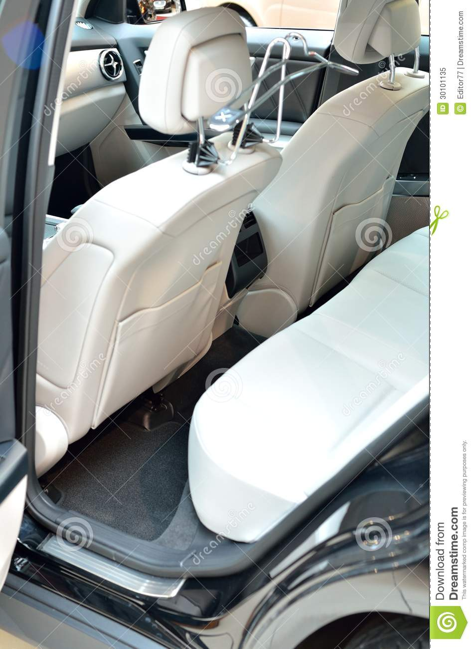 white car seats stock image image of interior gray 30101135. Black Bedroom Furniture Sets. Home Design Ideas
