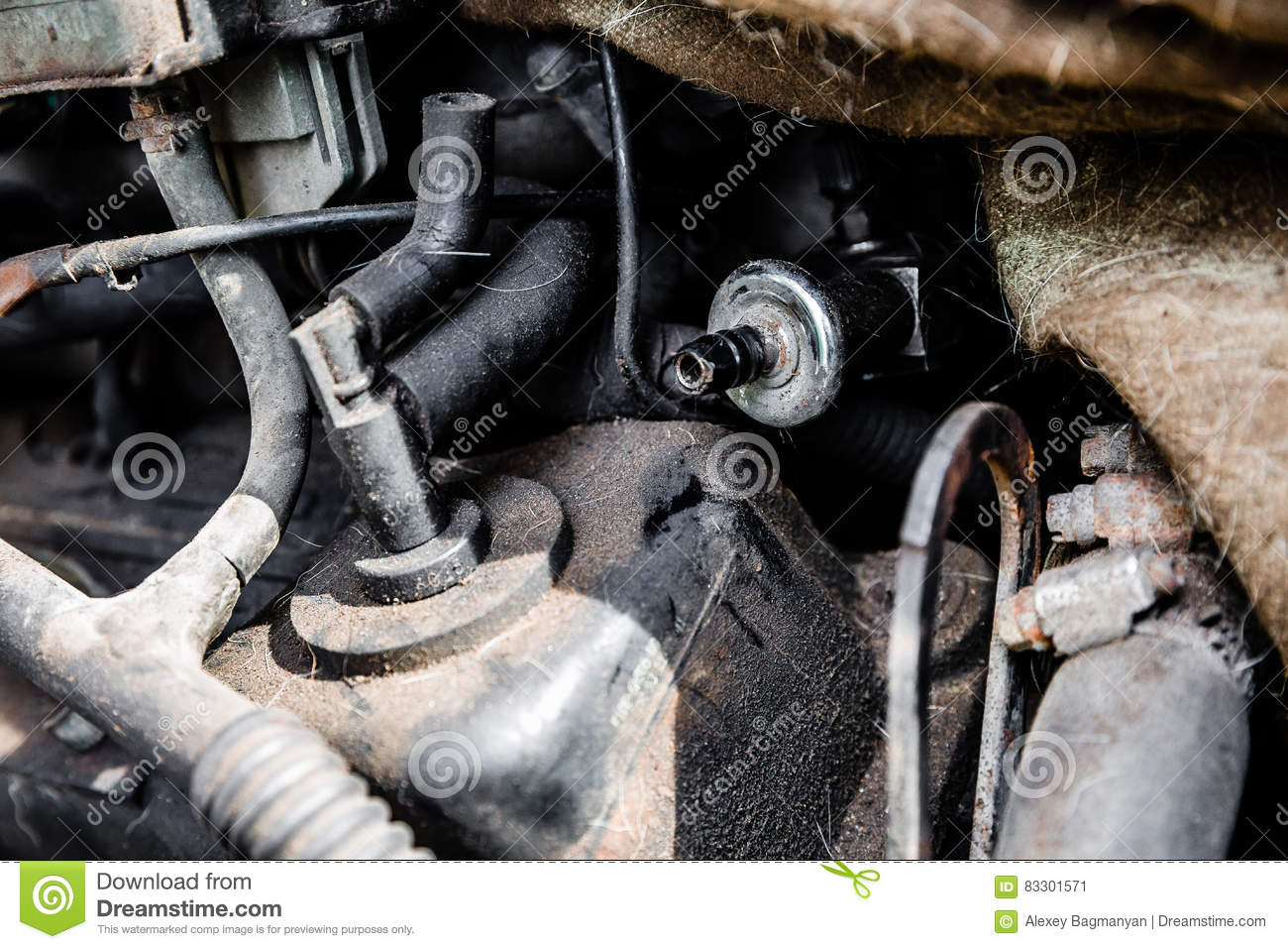 Car internal parts texture stock image. Image of damaged - 83301571