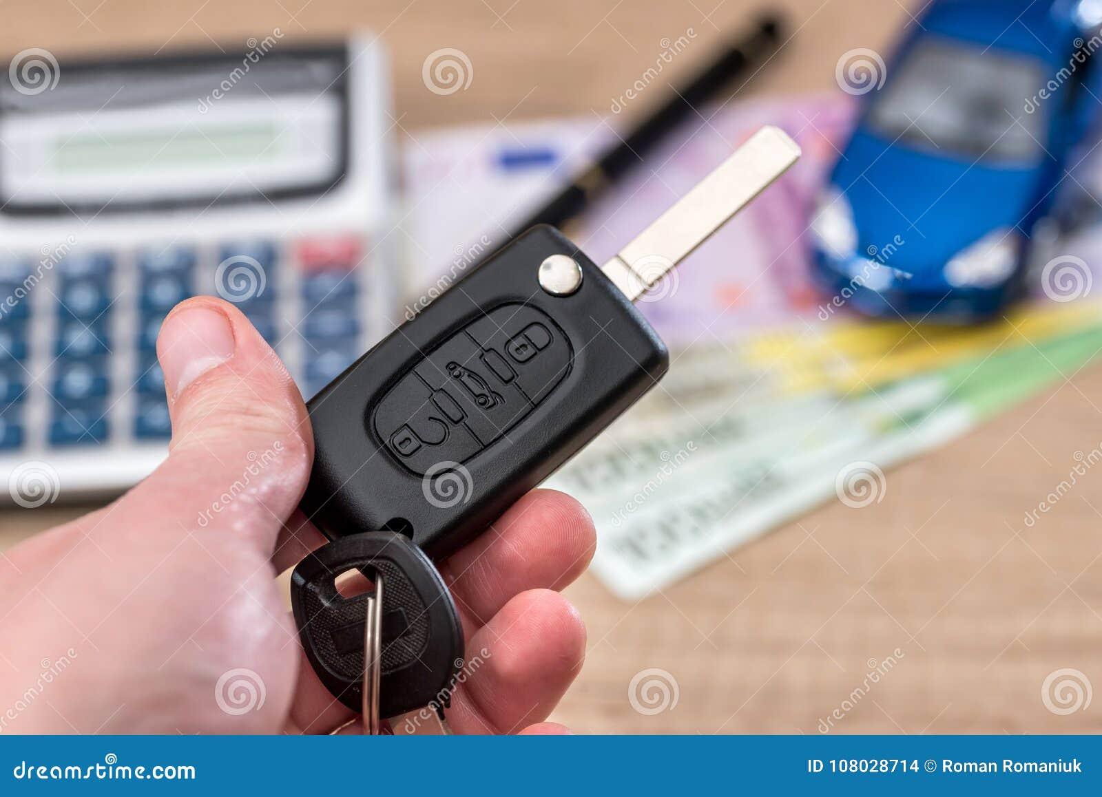 Car Key Toy Car Euro Bills Stock Photo Image Of Background