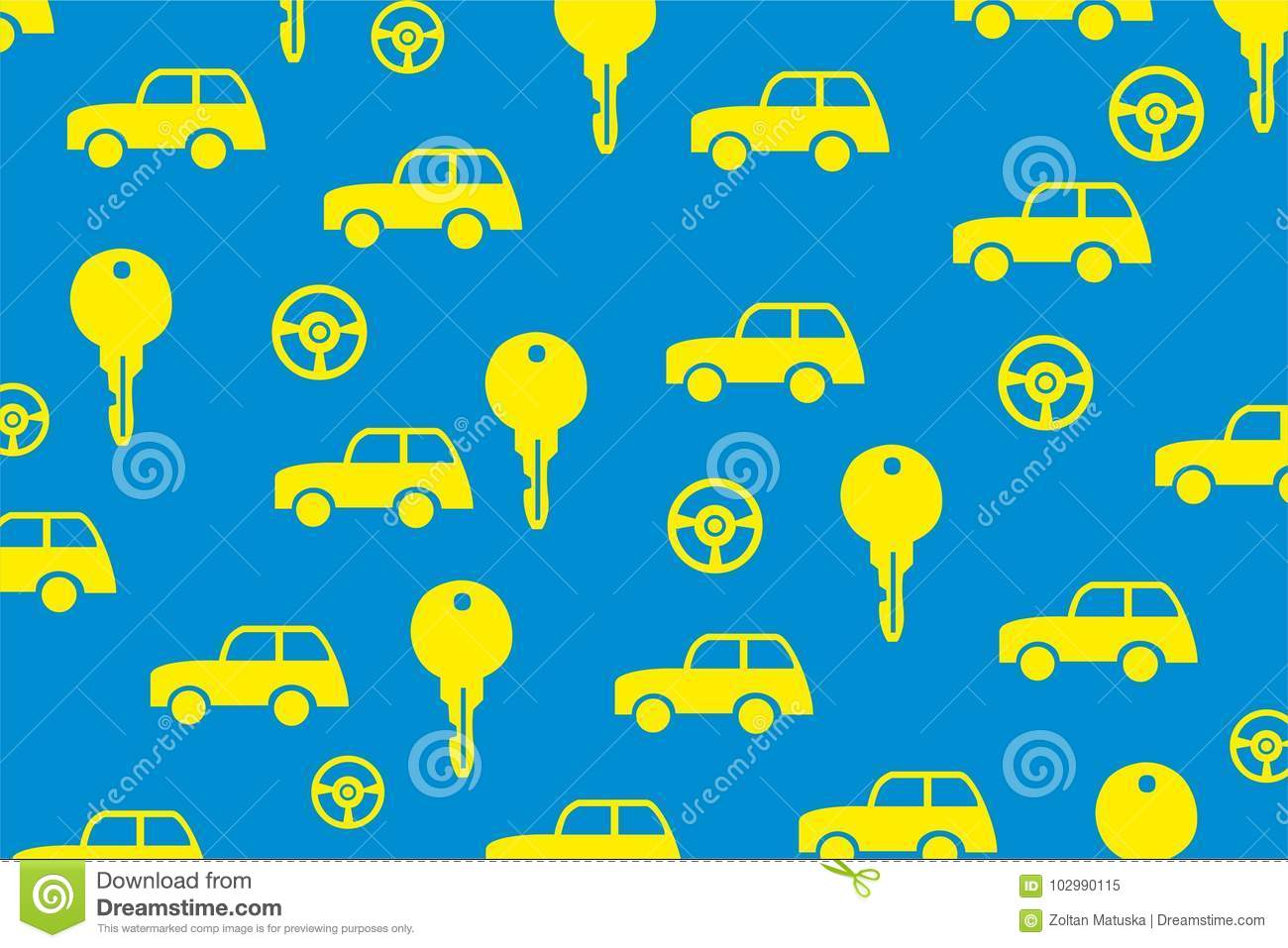 Car Key Vehicle Vector Background Stock Vector Illustration Of