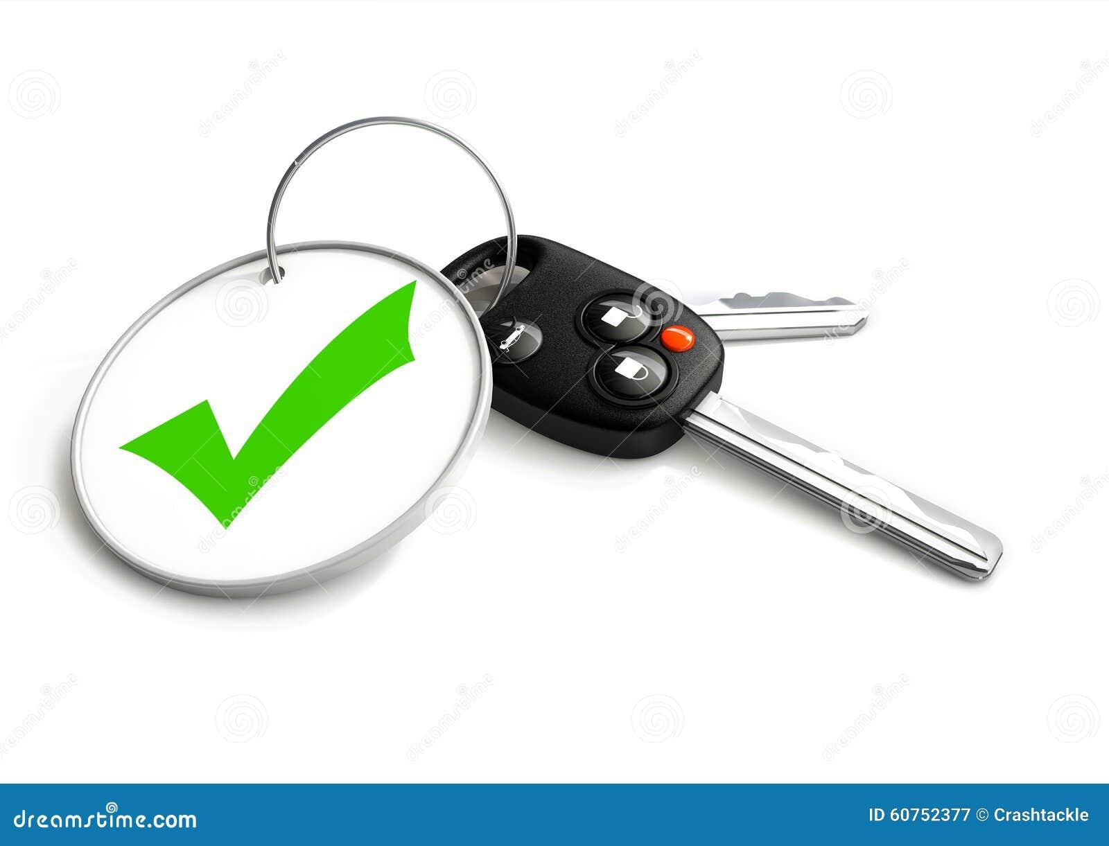 car keys with approved tick symbol on key ring concept for appr stock photo image 60752377. Black Bedroom Furniture Sets. Home Design Ideas