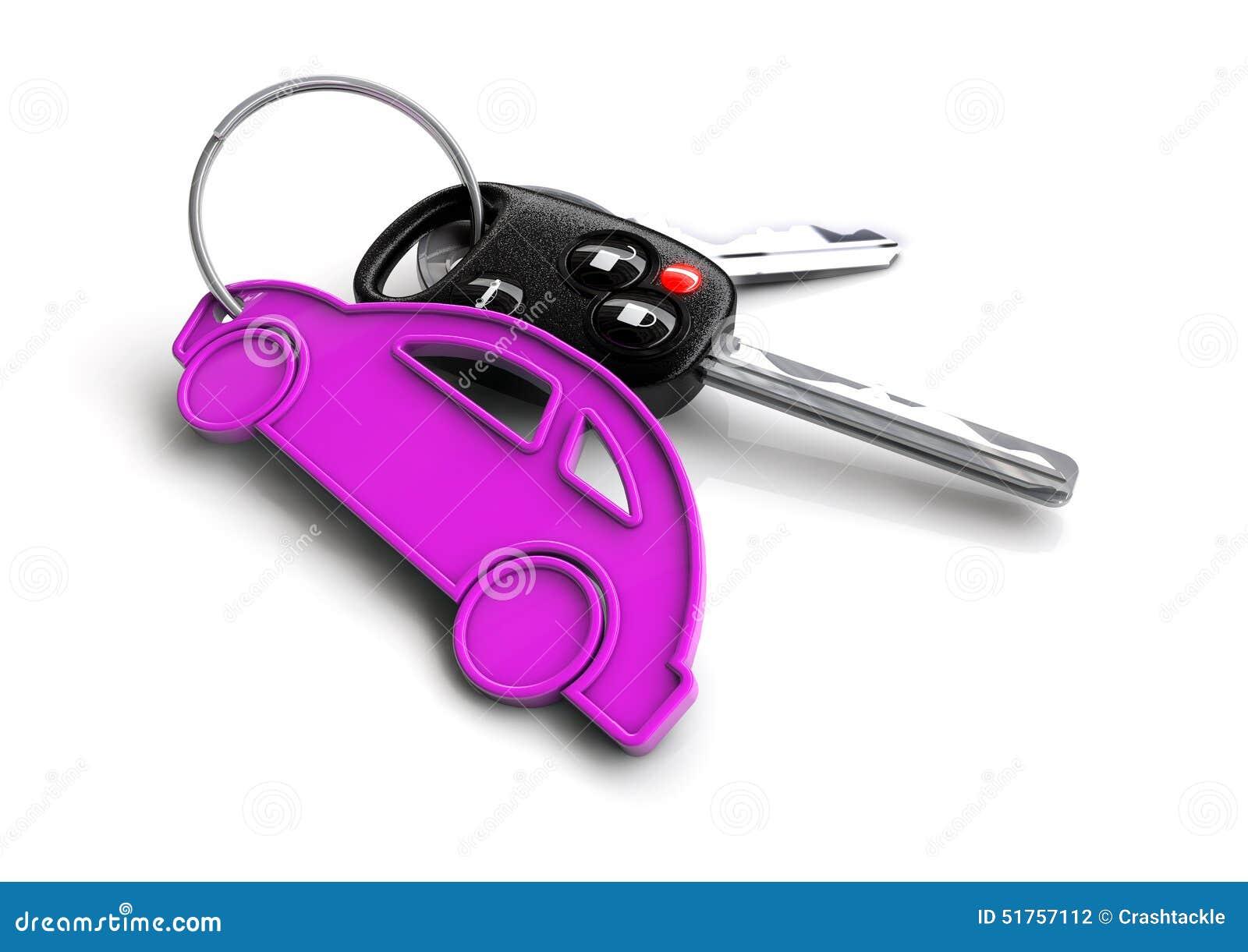 car keys with car icon keyring concept for car ownership stock illustration image 51757112. Black Bedroom Furniture Sets. Home Design Ideas