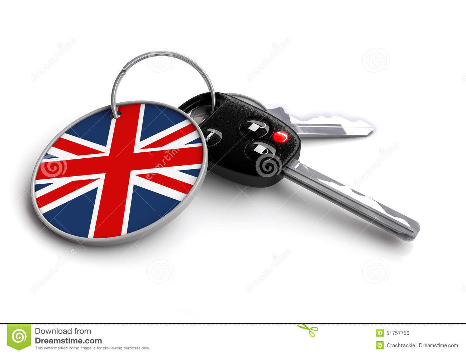 Car Keys With Keyring British Flag British Made Vehicles