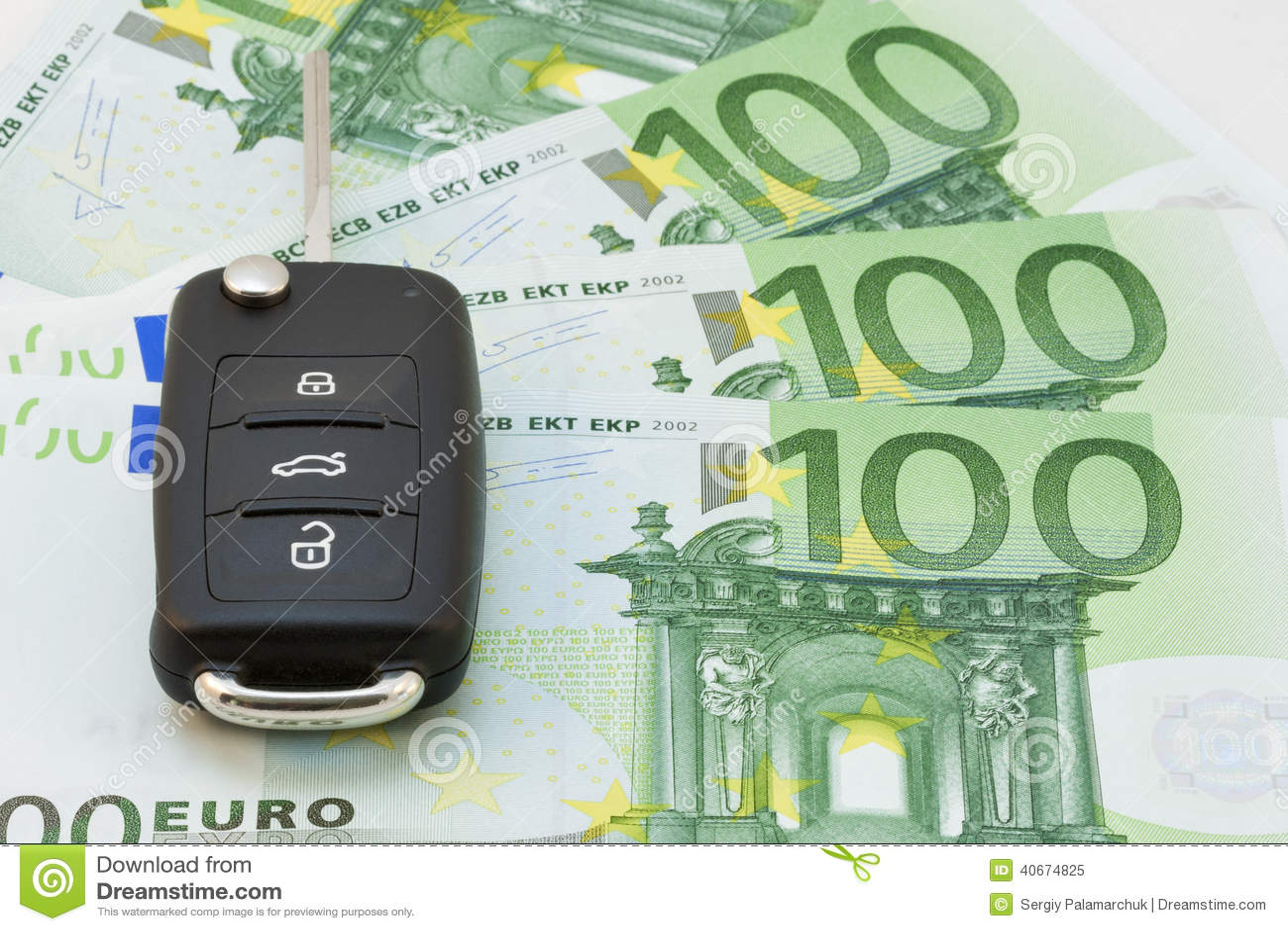 Car Keys Over Euro Banknotes Stock Image Image Of Luxury Euro