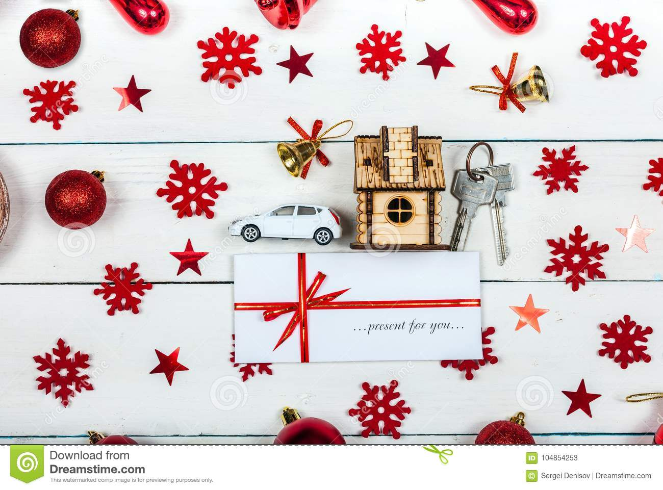 A Car And The Keys To The House Stock Image - Image of gift, spirit ...