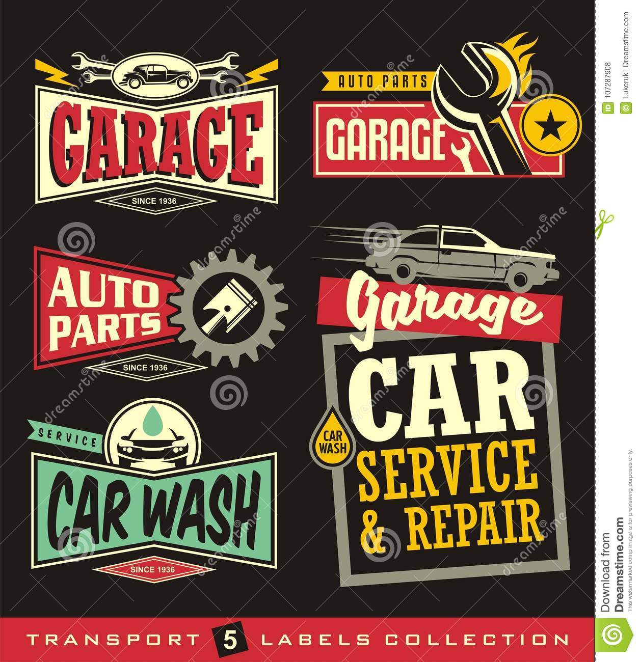 Car labels signs emblems logos and stickers collection for Garage auto discount montpellier