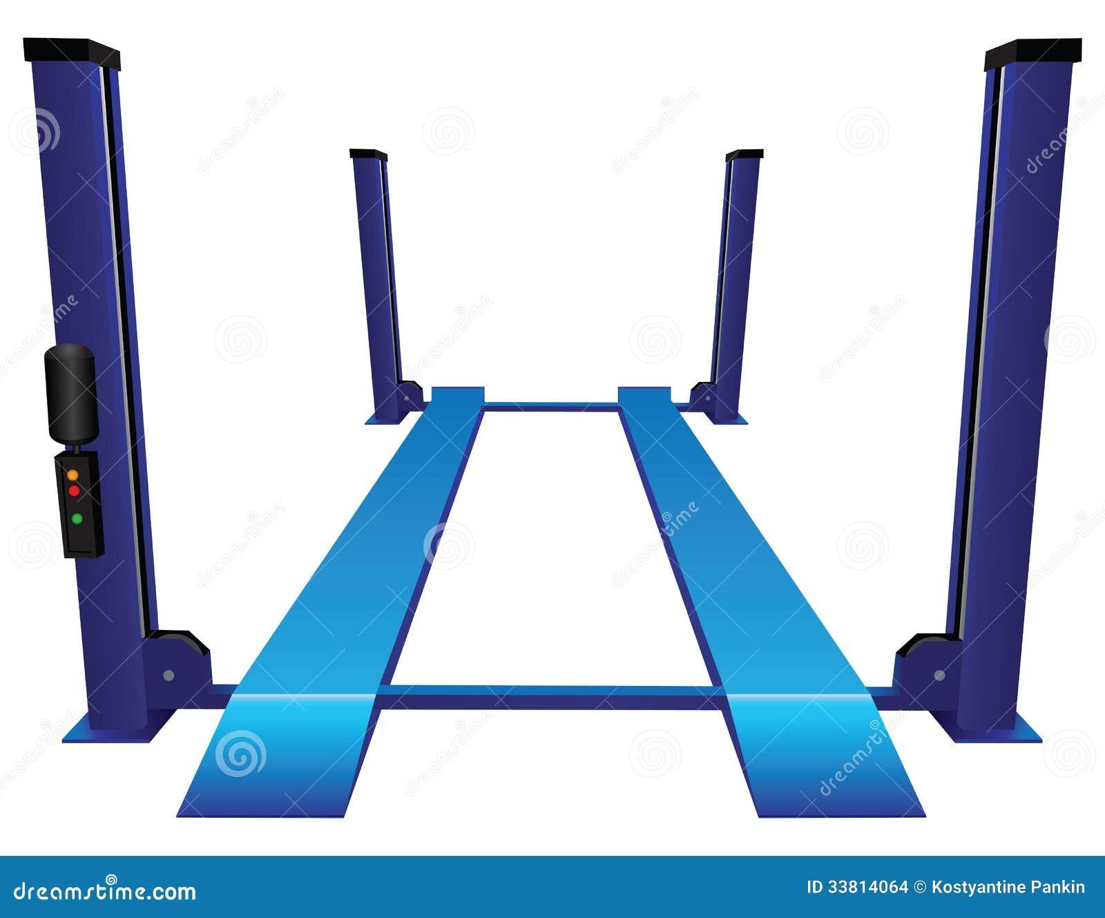 Car Lift Four Rack Stock Images Image 33814064