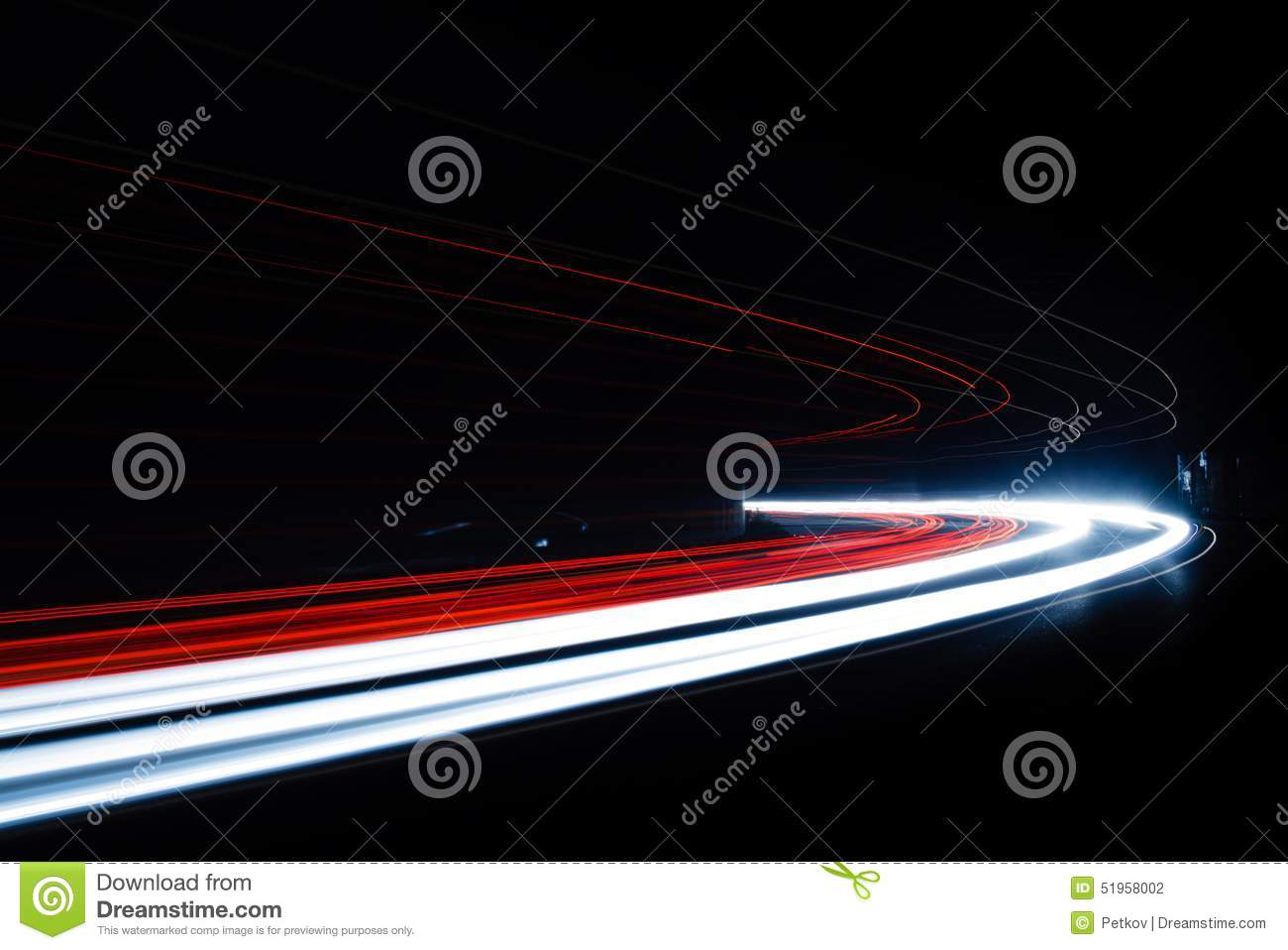Car Light Trails In The Tunnel. Stock Photo - Image of ...