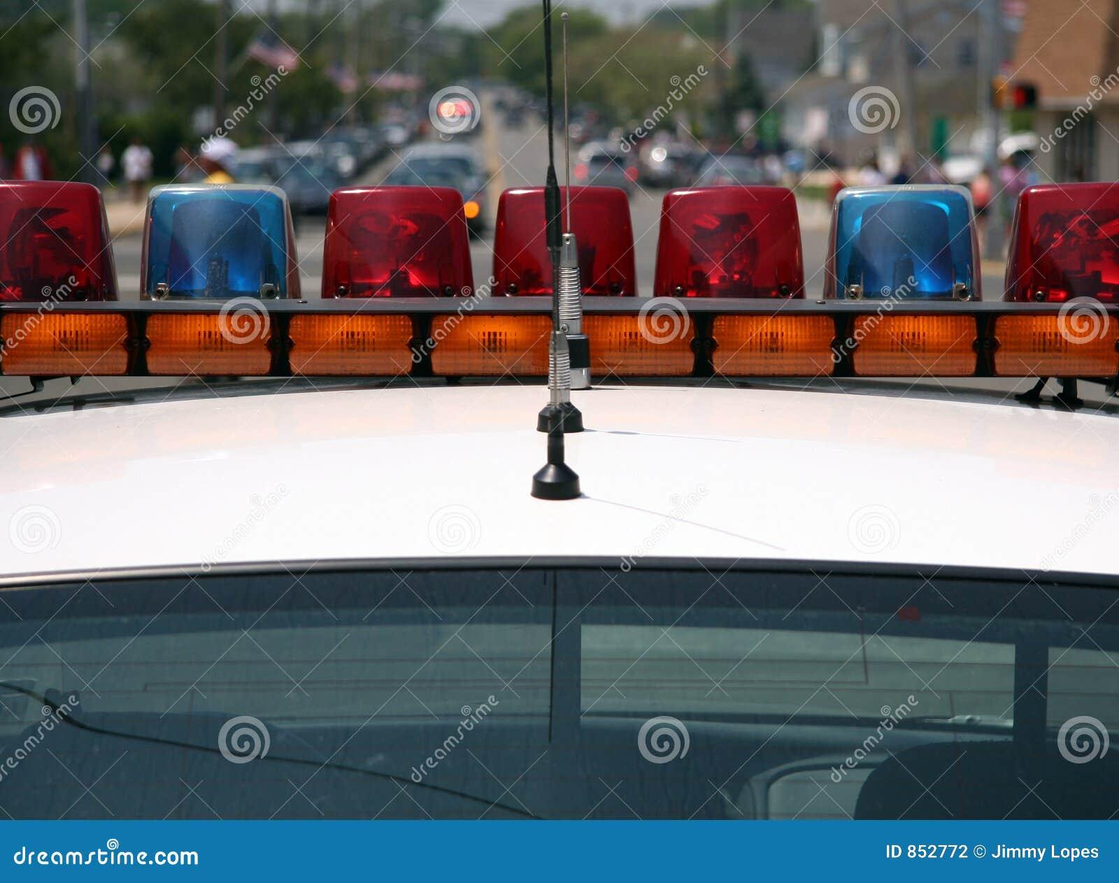 Car lights police