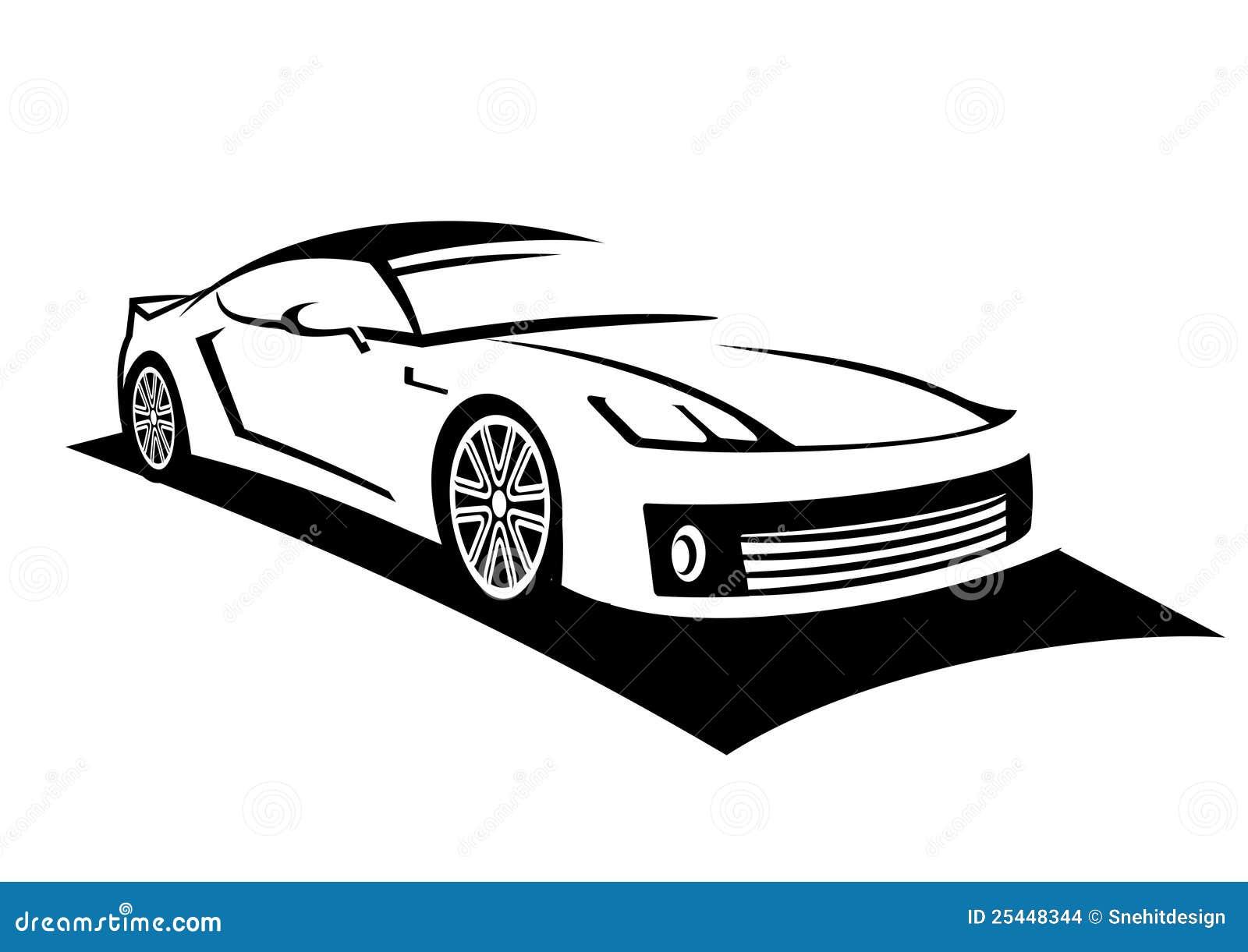 Line Art Car : Car line art stock illustration of sport