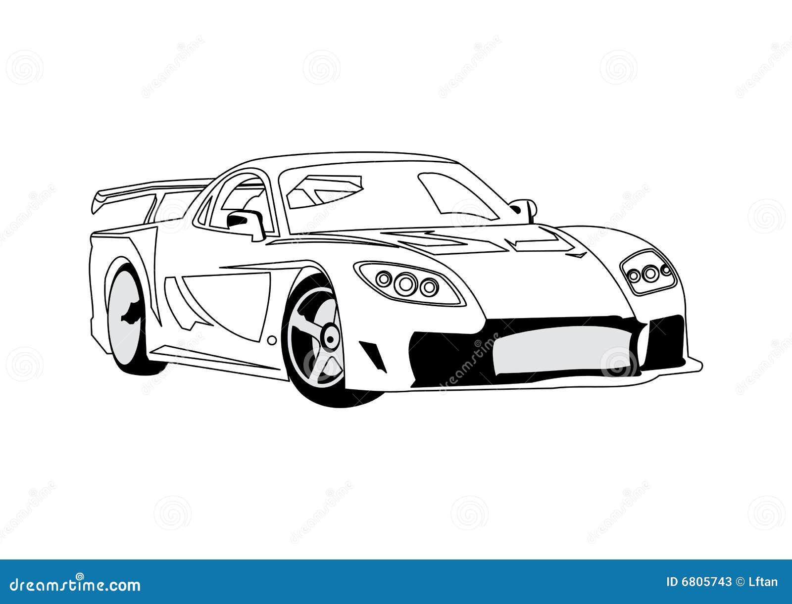 Line art car : Car line art stock photos image