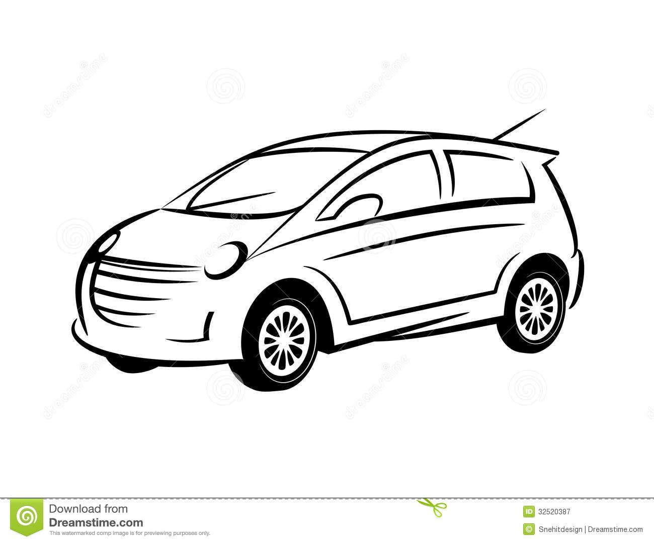 Line Art Car : Car line art royalty free stock photography image