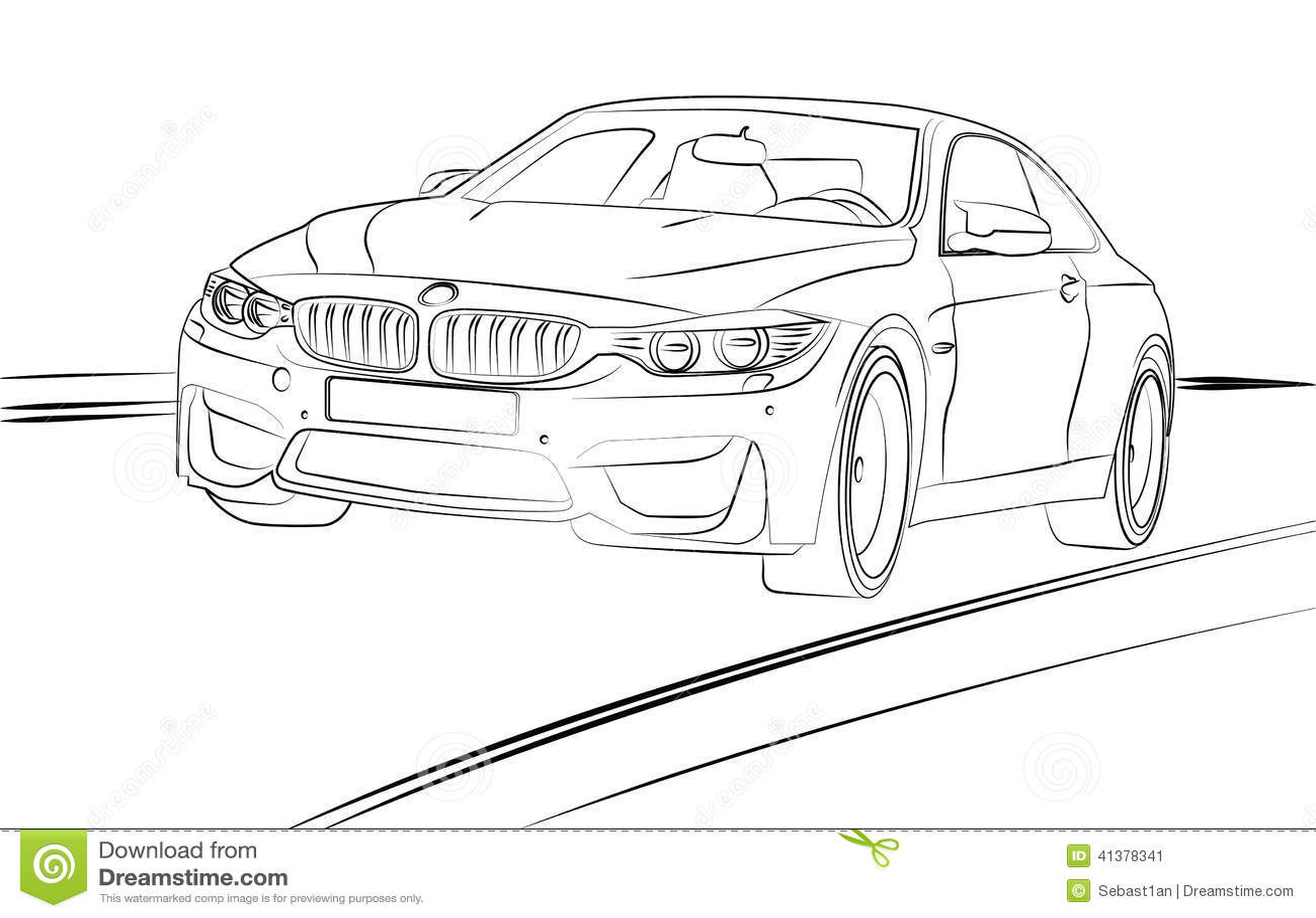 Line Art Car : Car line art royalty free stock image cartoondealer