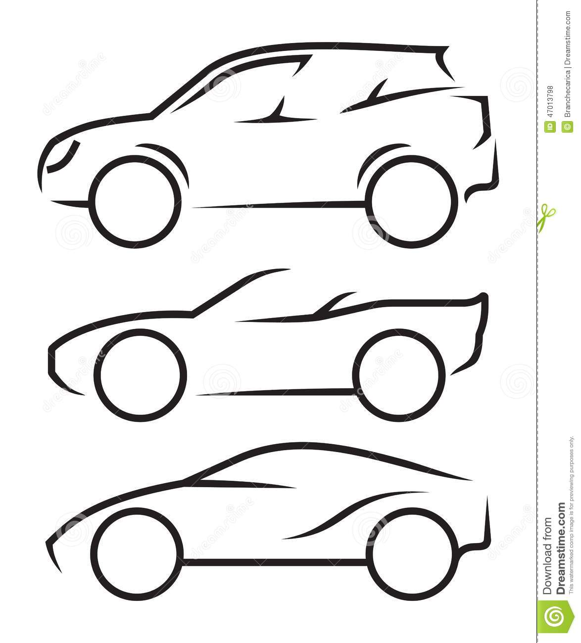 Vector Drawing Lines Html : Car line art stock vector image