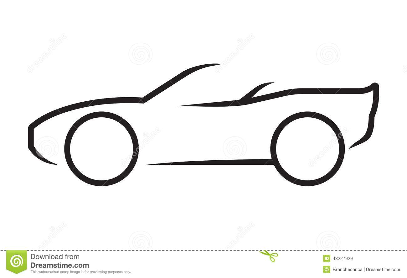 Stock Illustration Car Line Art Vector Illustrations Image48227929 on car audio art