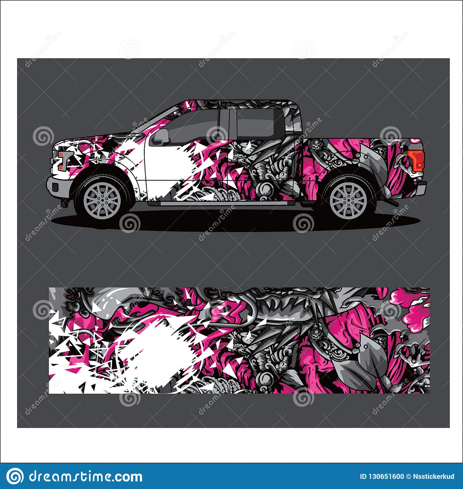 Car Livery Vector Abstract Explosion With Grunge Stock