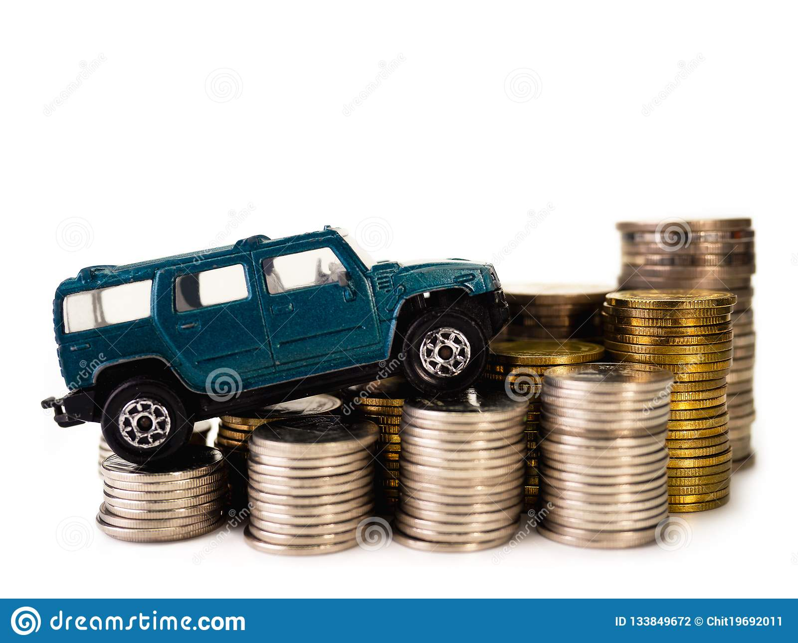 Car loan , money , for loans costs finance concept