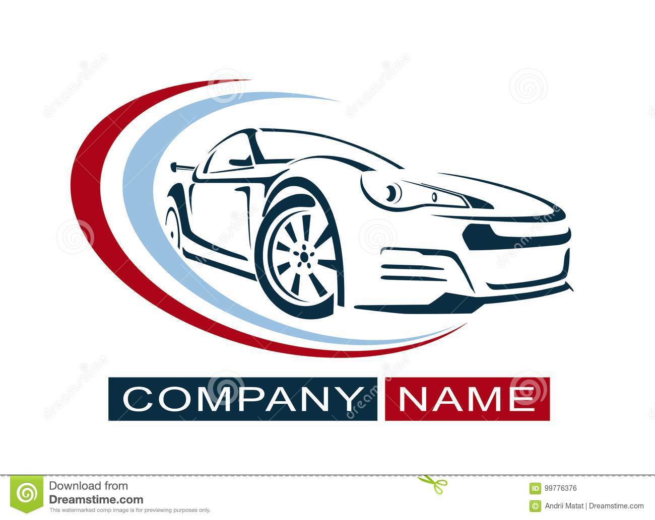 Car Logo Design Creative Vector Icon Vector Illustration Stock