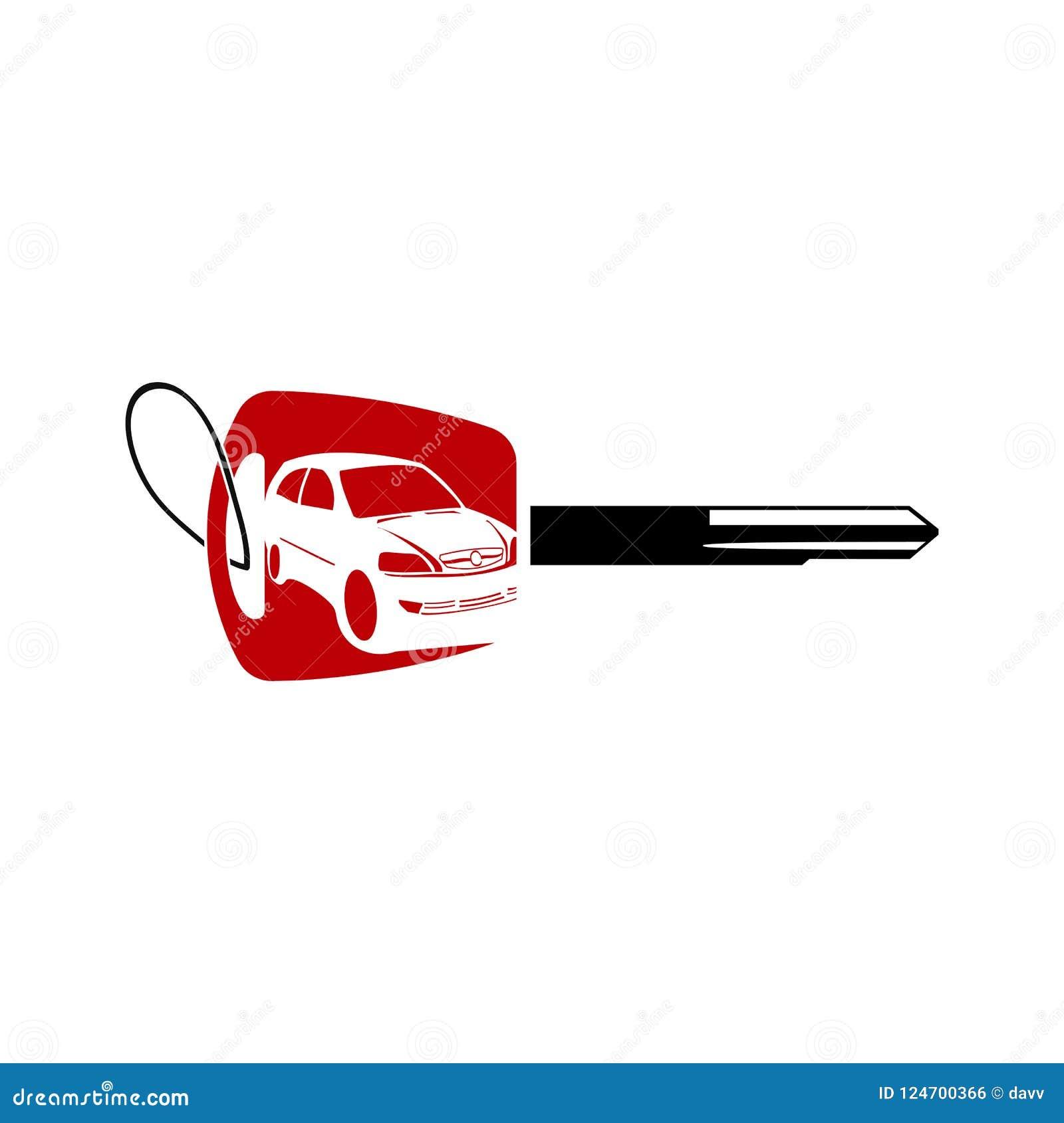 Car Logo Design With Key Auto Car Logo Silhouette Logo Design Vector Icons Stock Vector Illustration Of Design Rally 124700366