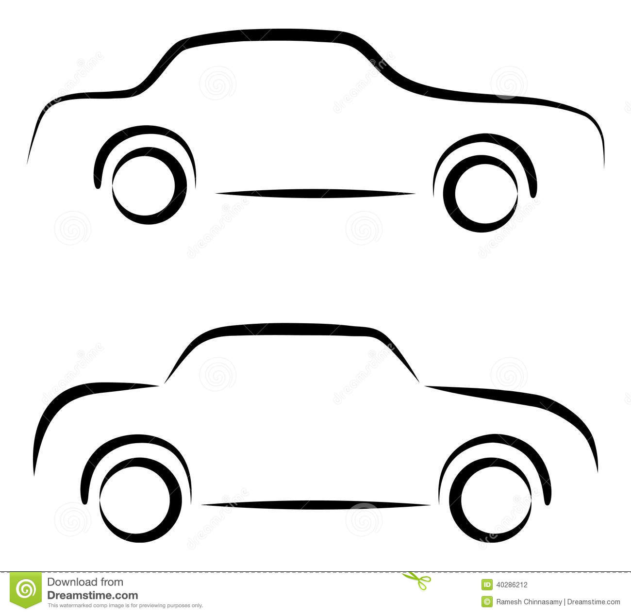Car logo stock vector image 40286212 - Dessin de voiture simple ...
