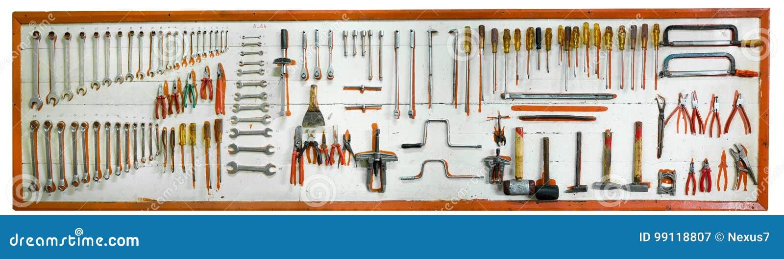 Car mechanic tools