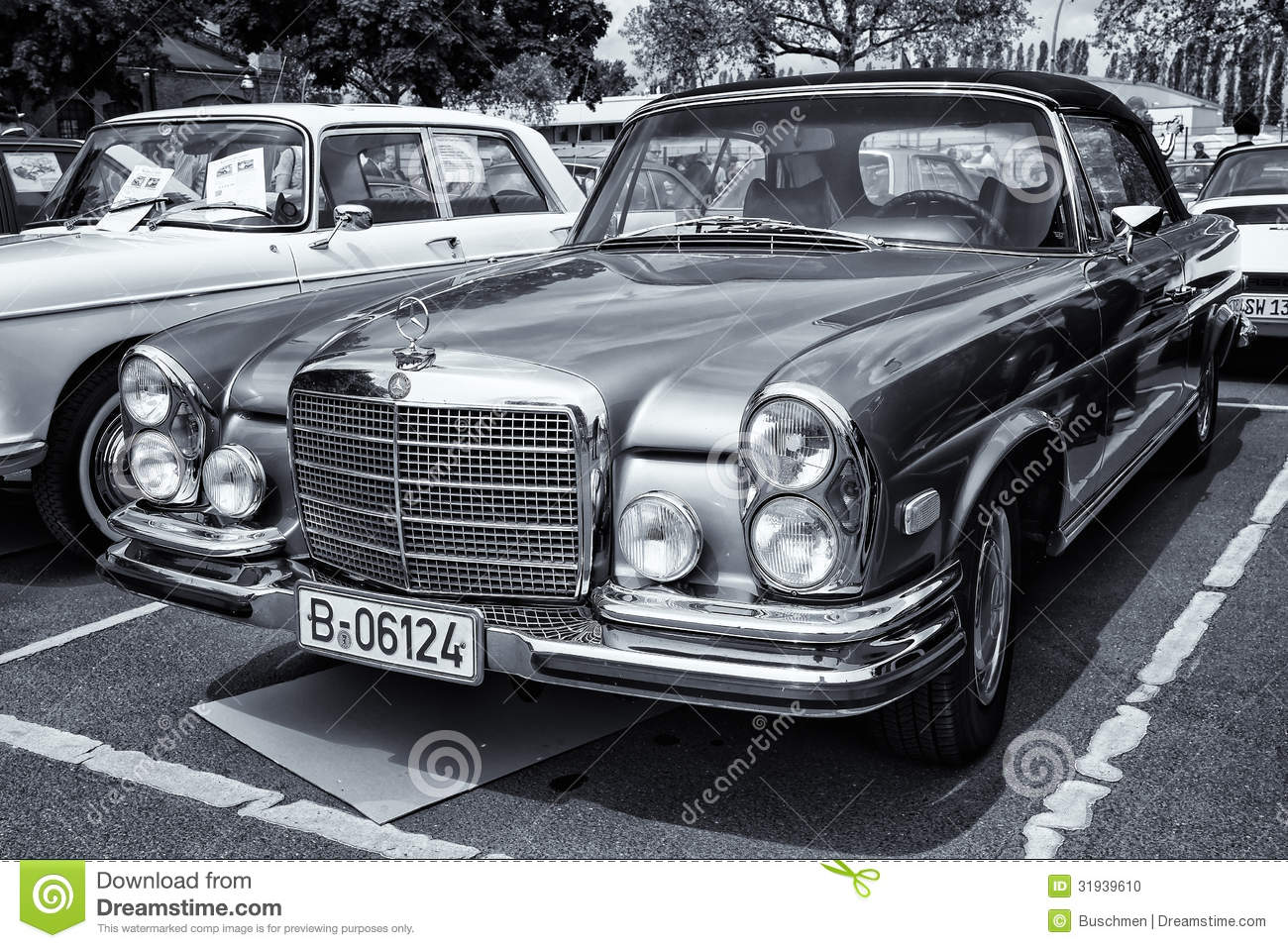 car mercedes benz 280 se w111 coupe black and white. Black Bedroom Furniture Sets. Home Design Ideas