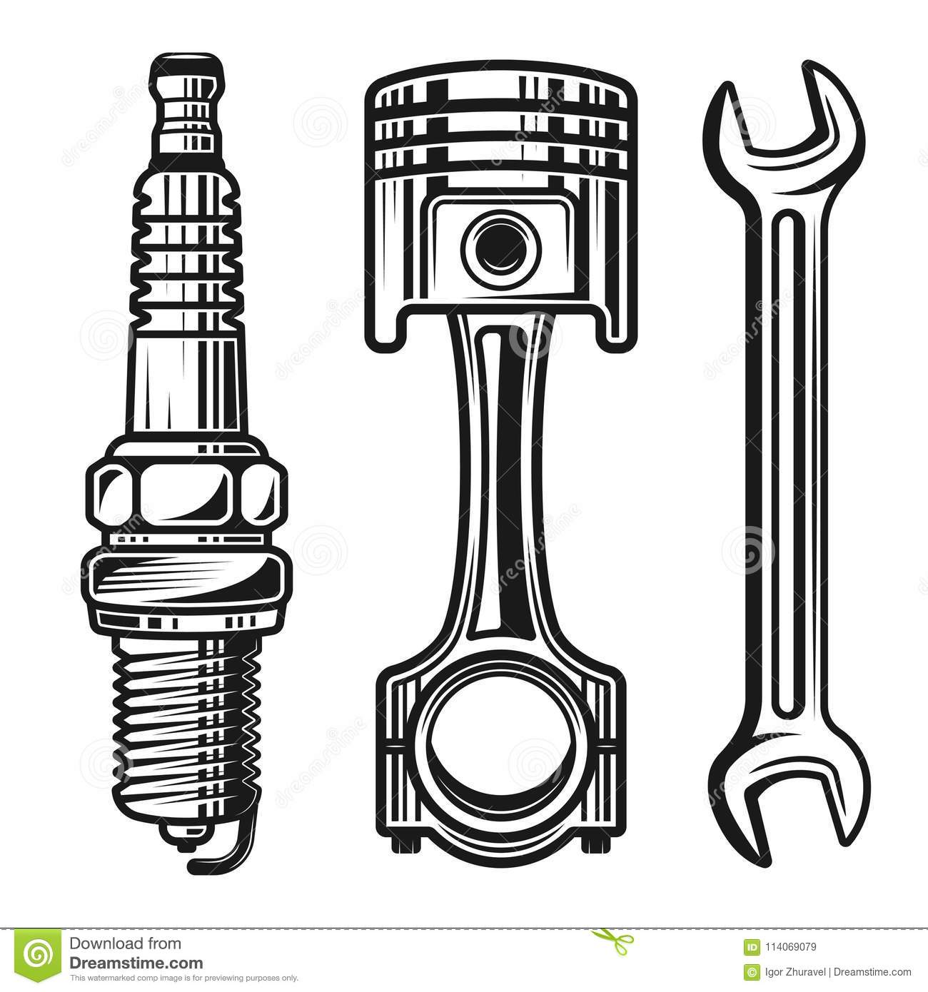 Motorcycle Parts In Delaware Mail: Motorcycle Parts Stock Illustrations