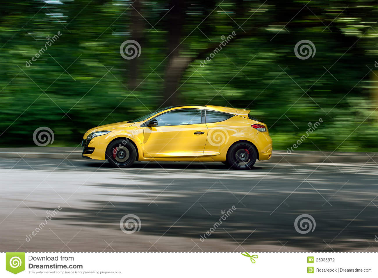 car moving on the road stock photography image 26035872. Black Bedroom Furniture Sets. Home Design Ideas