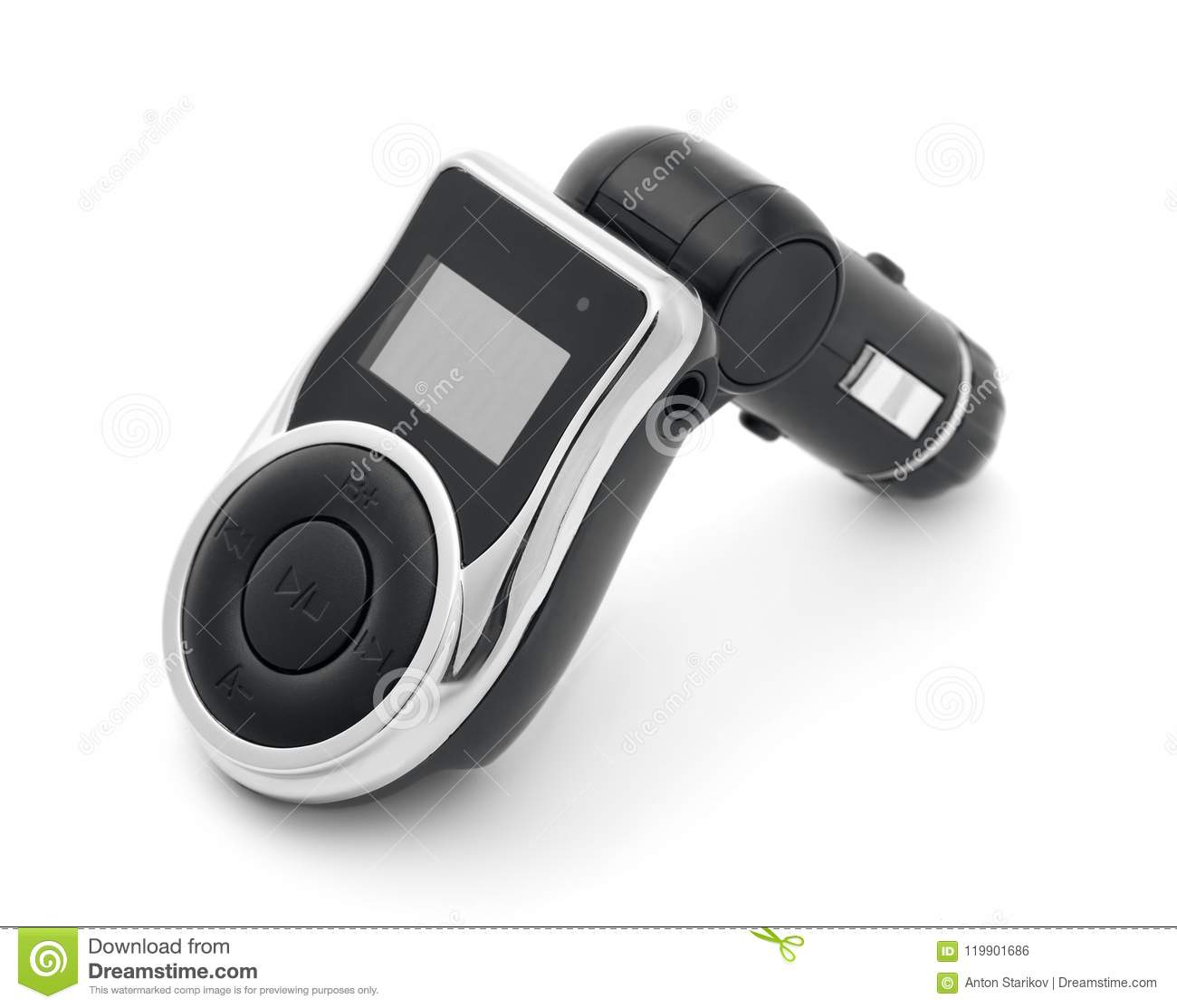 Car Mp3 Player With Fm Transmitter Stock Photo Image Of Music Portable Download Radio