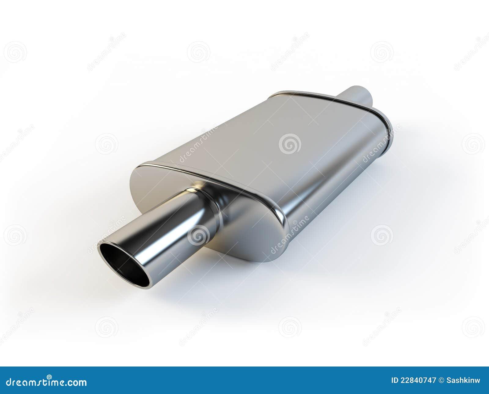 Car Muffler Stock Illustration Image Of Chrome Part 22840747