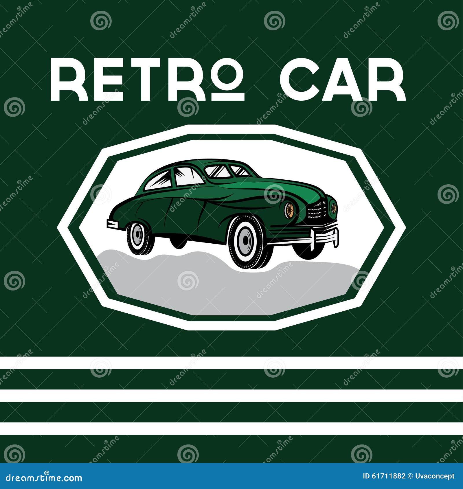 car old vintage poster