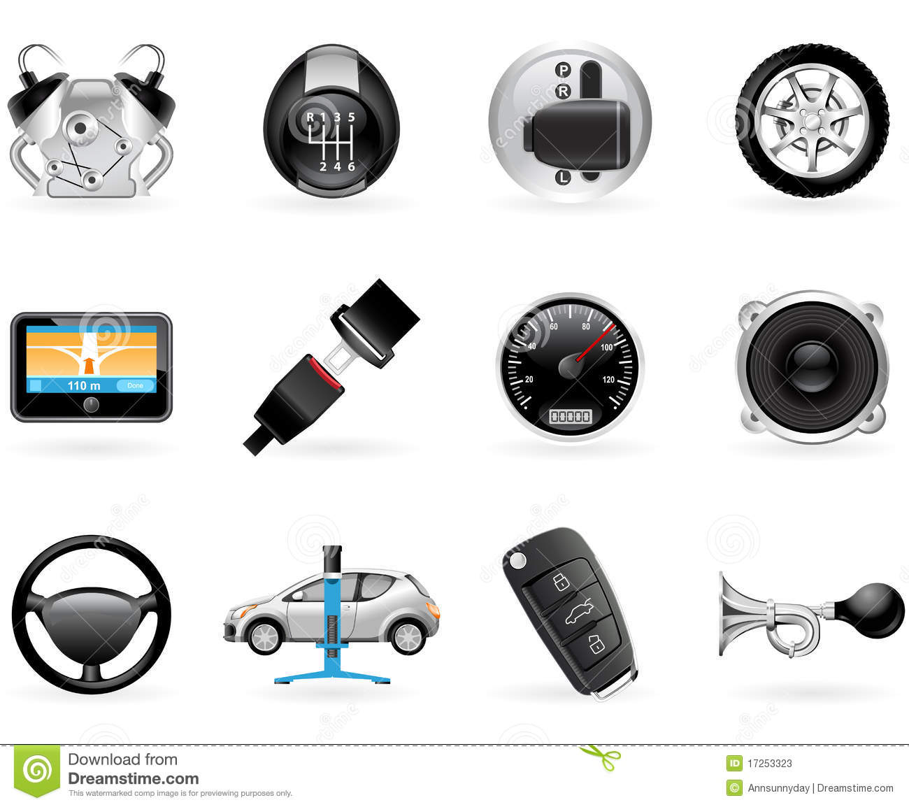 Car Options Stock Vector Image Of Lift Security Options