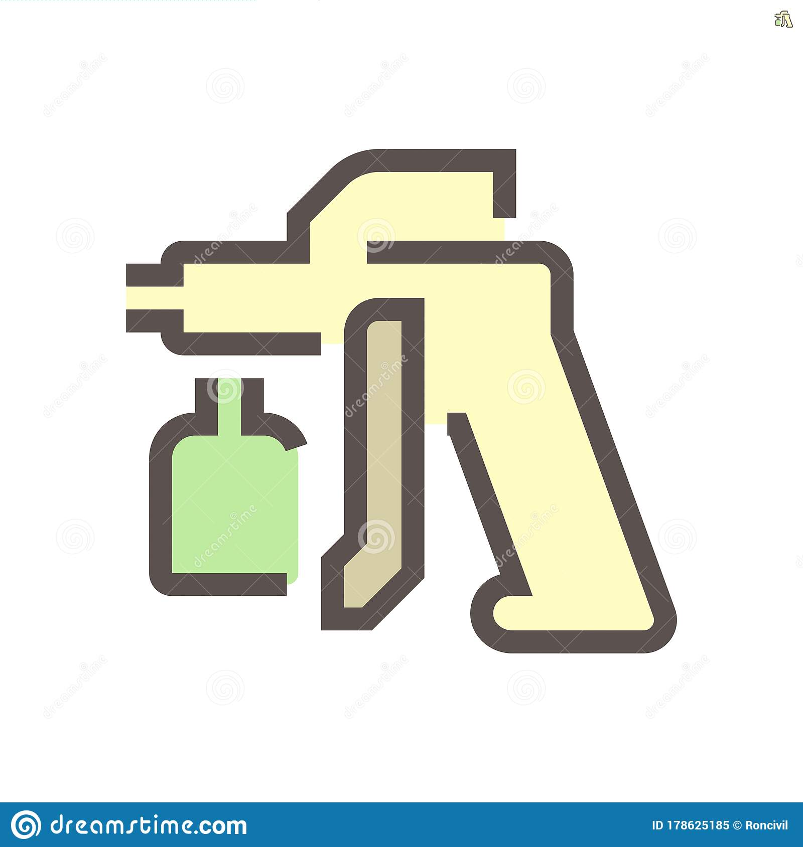 Car Paint Nozzle Icon Stock Vector Illustration Of Garage 178625185
