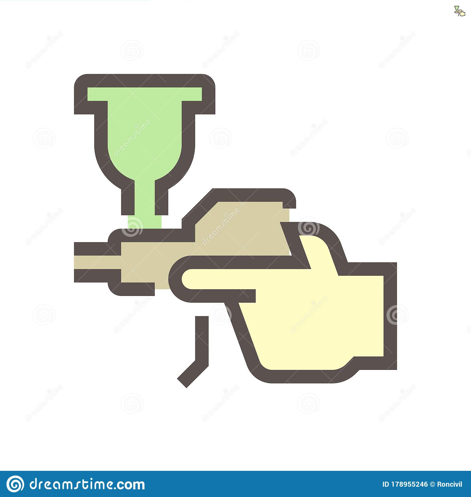 Car Paint Nozzle Tool For Car Painting Work Vector Icon Stock Vector Illustration Of Color Compressor 178955246