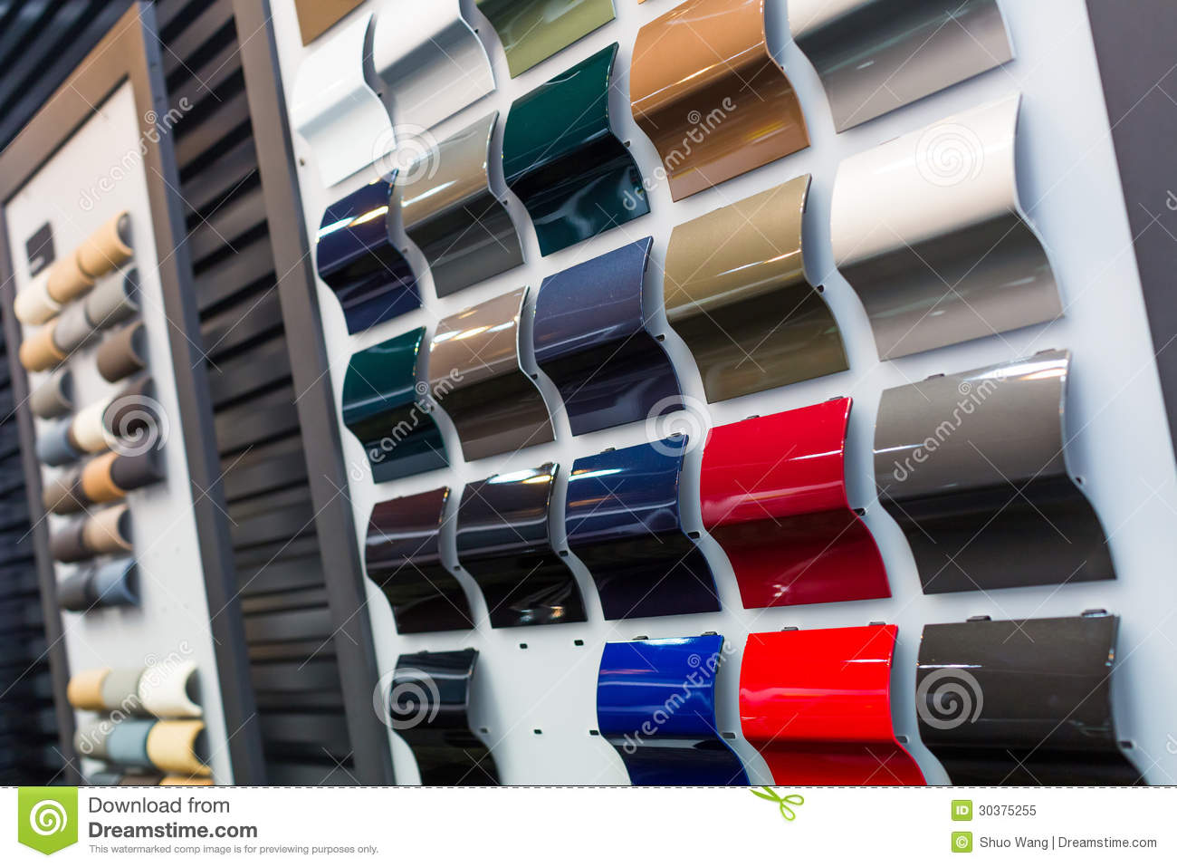 Car Paint Samples >> Car paint samples stock image. Image of black, golden - 30375255