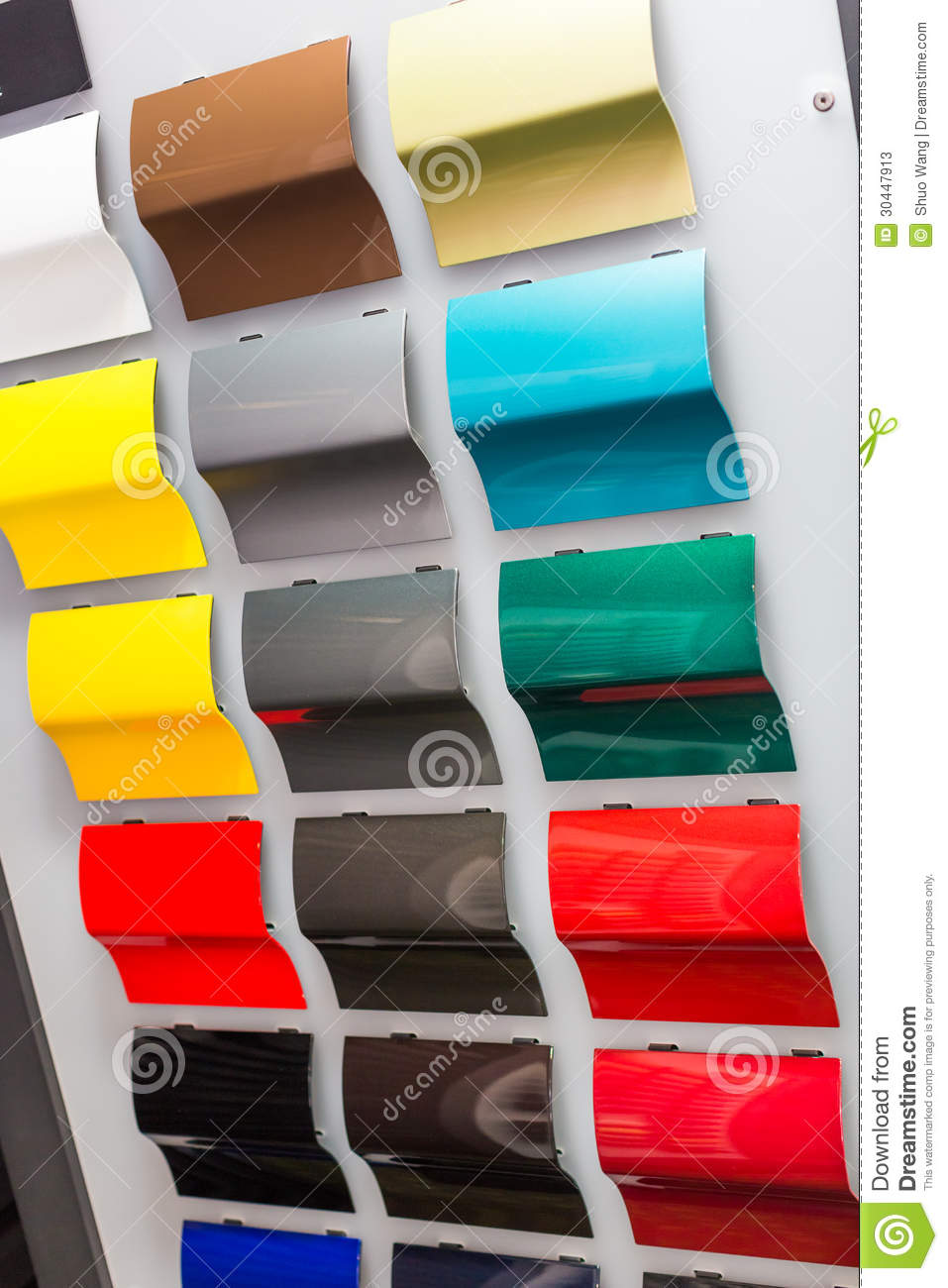 Car Paint Samples Stock Image Image Of Frame Cars Garage 30447913