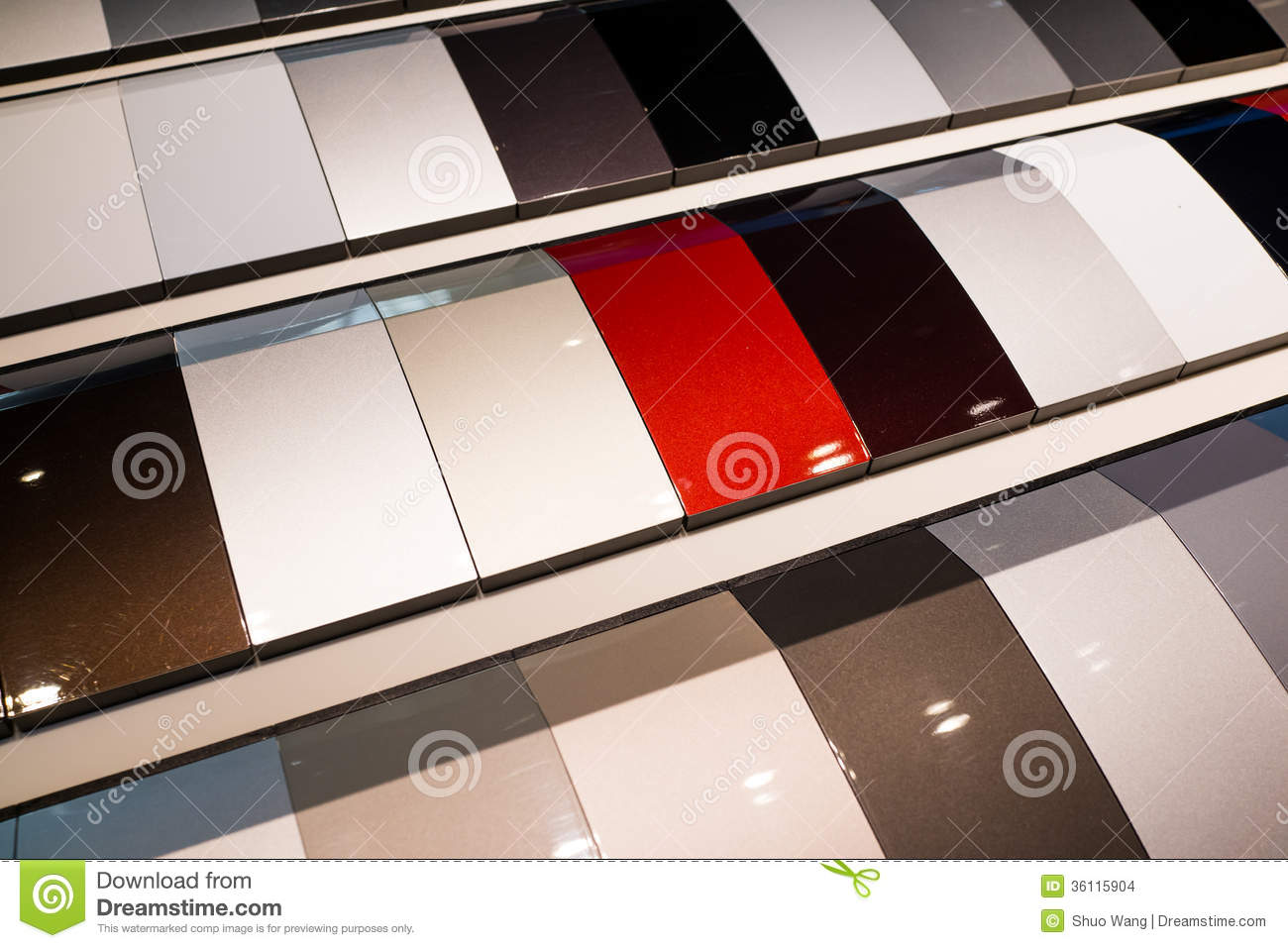 Car paint samples stock photo. Image of colors, clean 40348240.